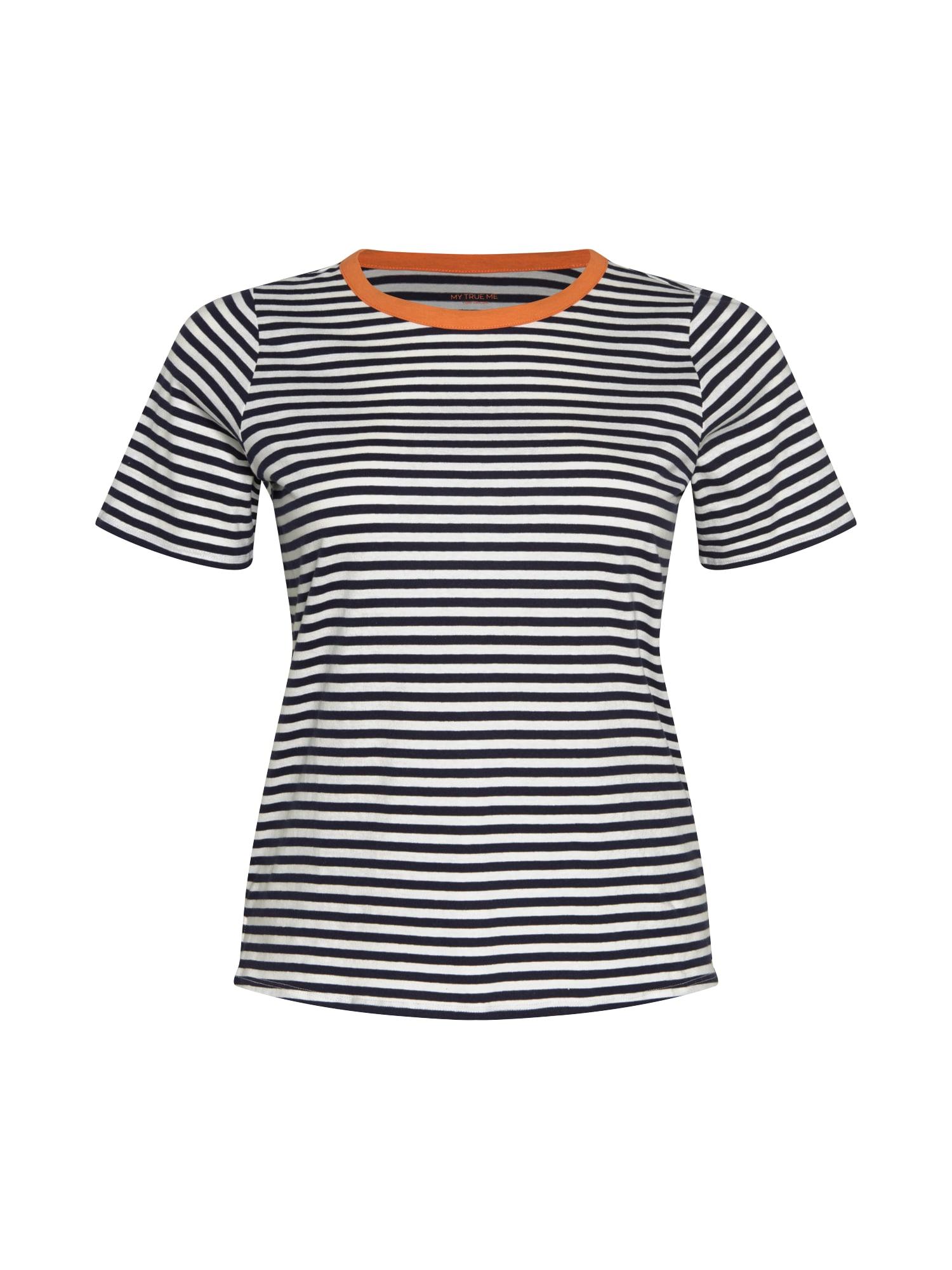 MY TRUE ME Marškinėliai balta / tamsiai oranžinė / juoda