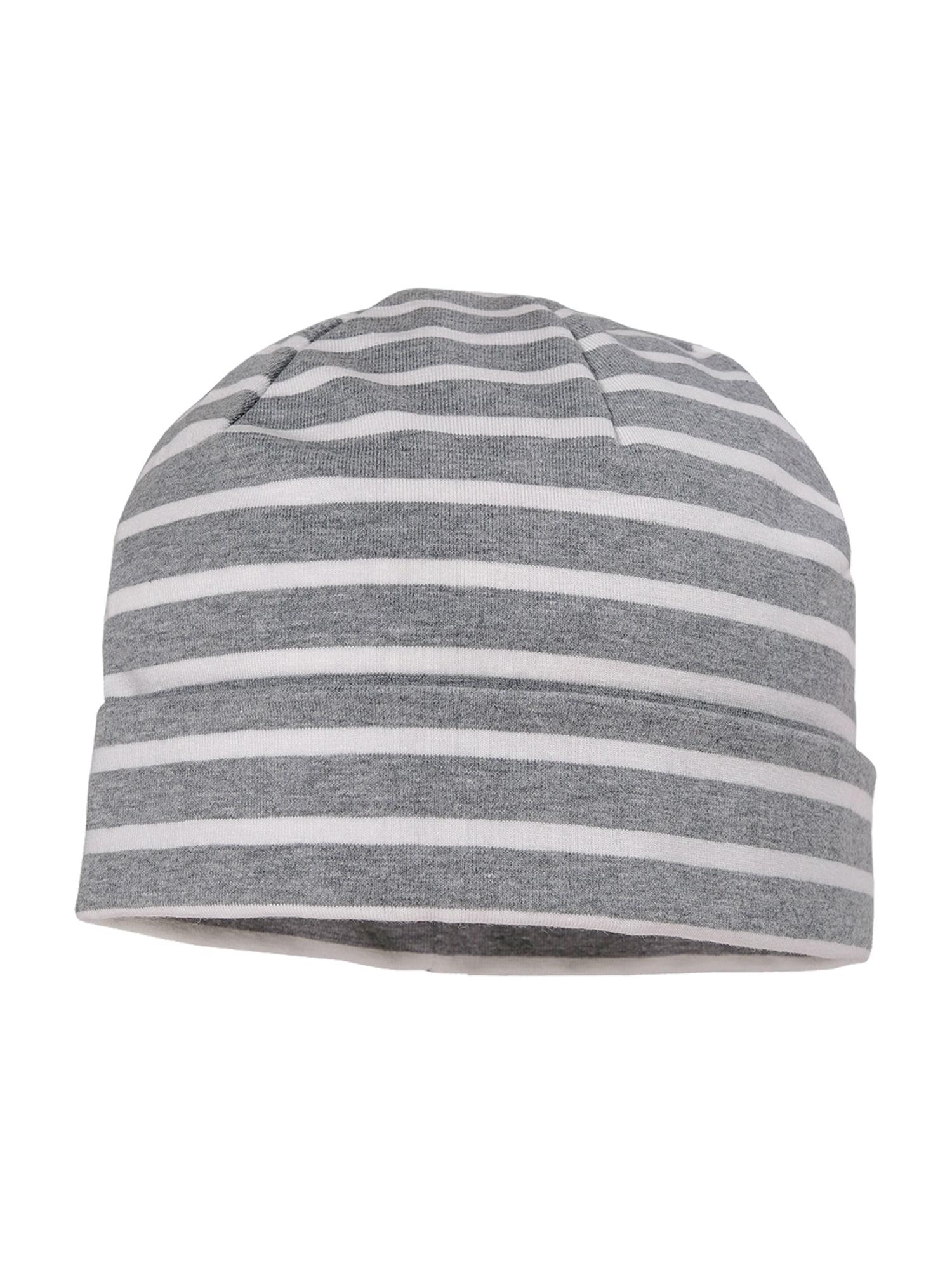 MAXIMO Megzta kepurė balta / margai pilka