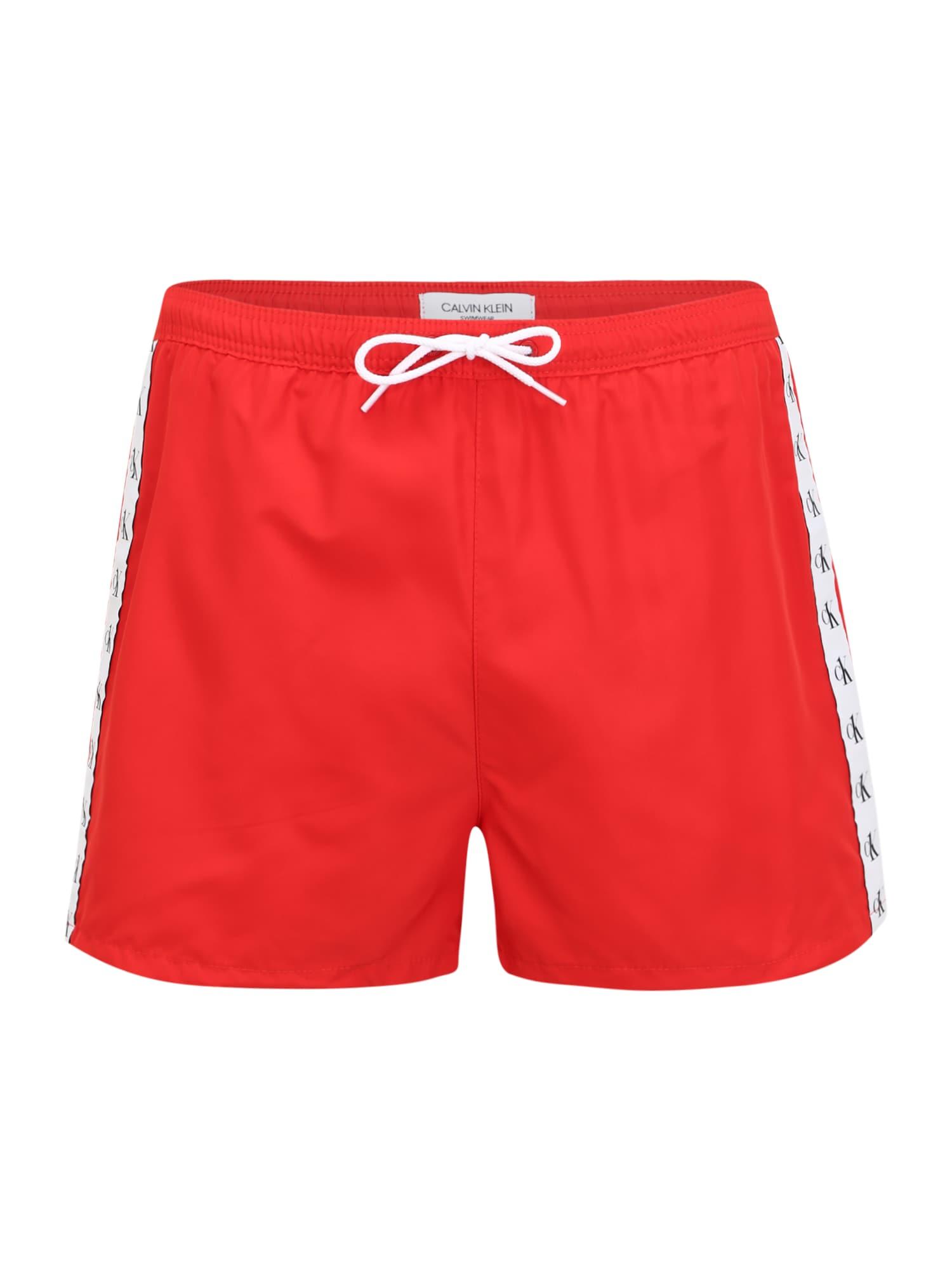 Calvin Klein Swimwear Maudymosi trumpikės raudona / balta / juoda