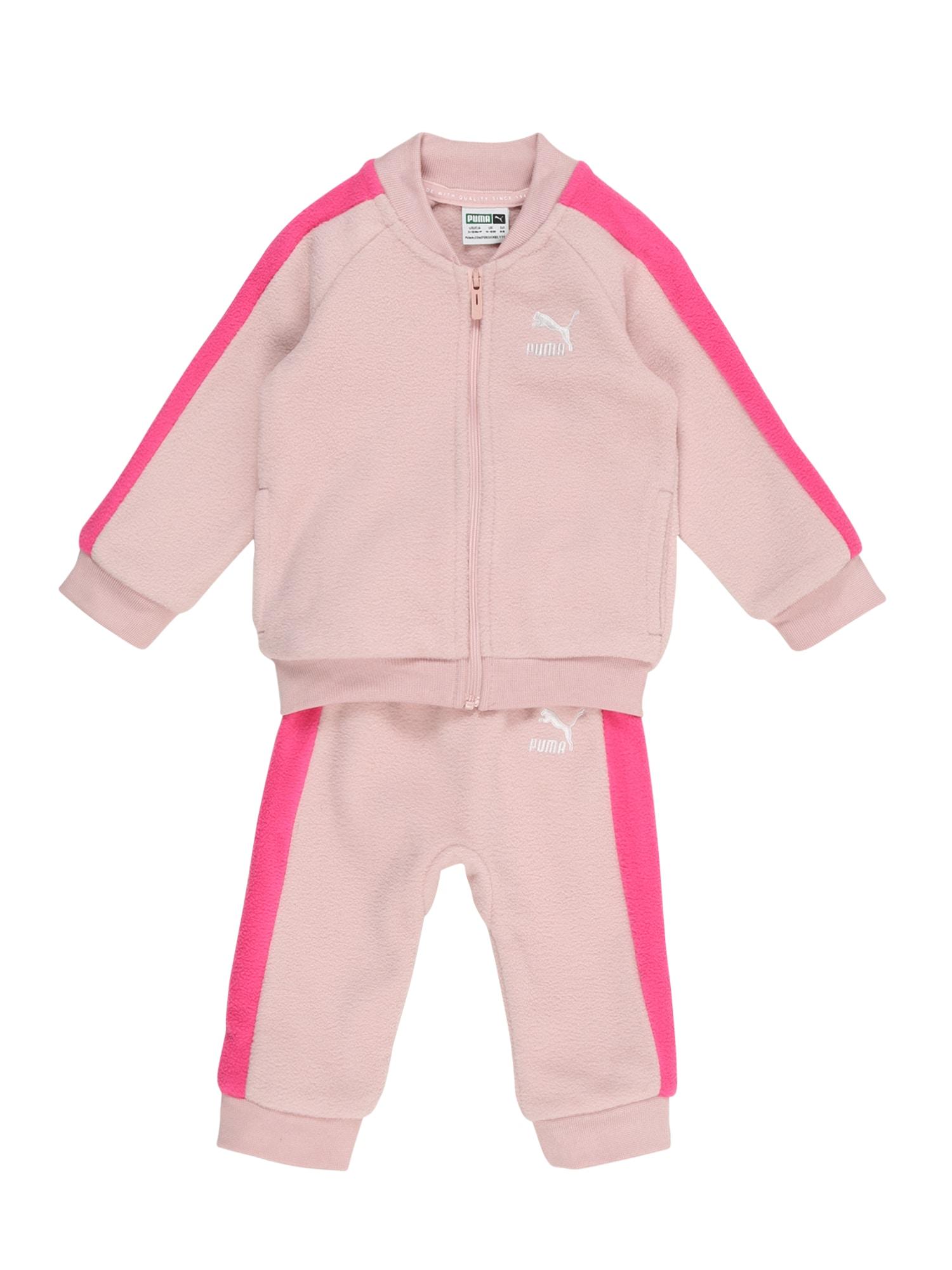 PUMA Joggingová souprava 'Minicats T7'  růžová / pink