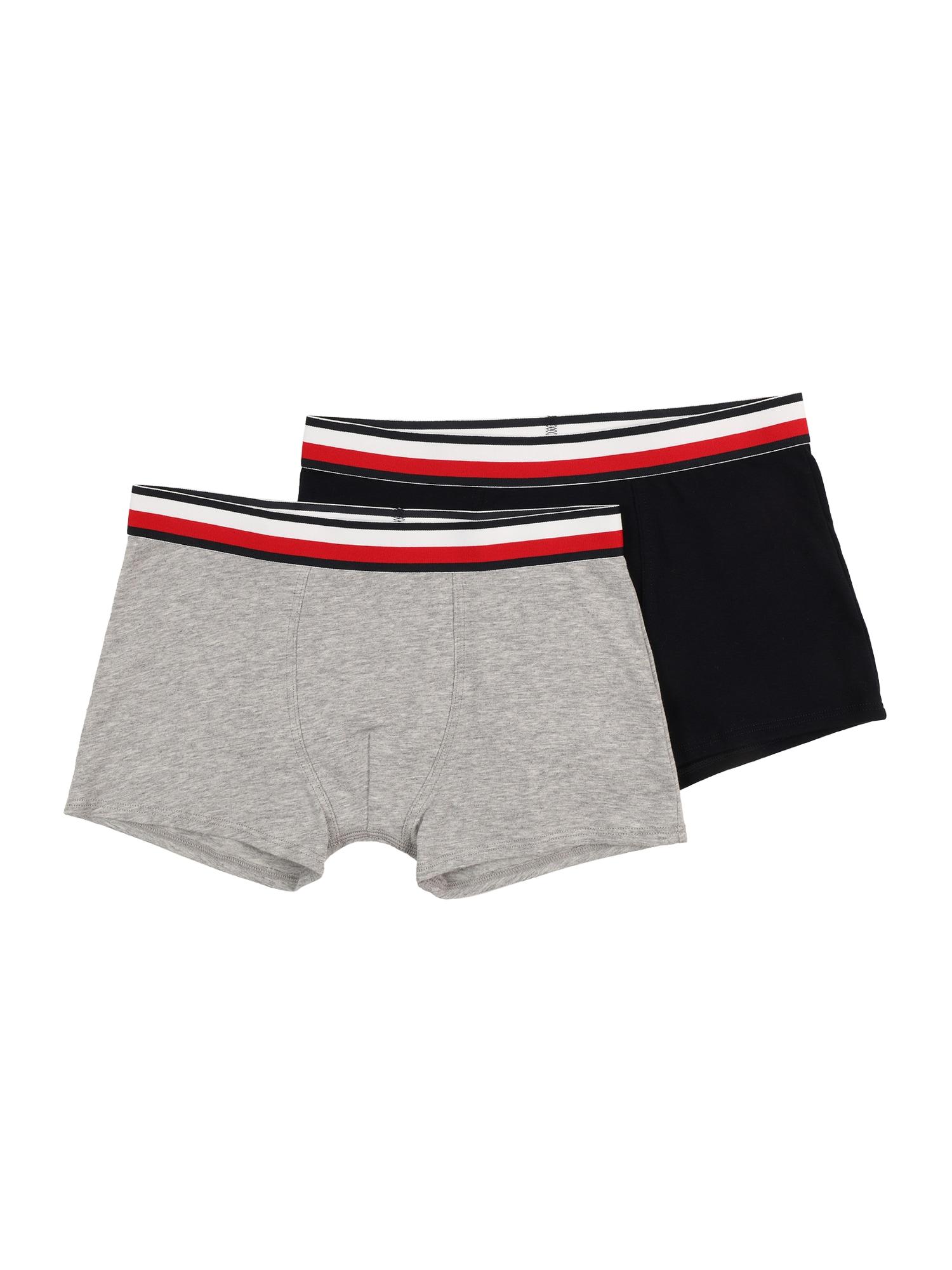 Tommy Hilfiger Underwear Apatinės kelnaitės margai pilka / tamsiai mėlyna / balta / šviesiai raudona