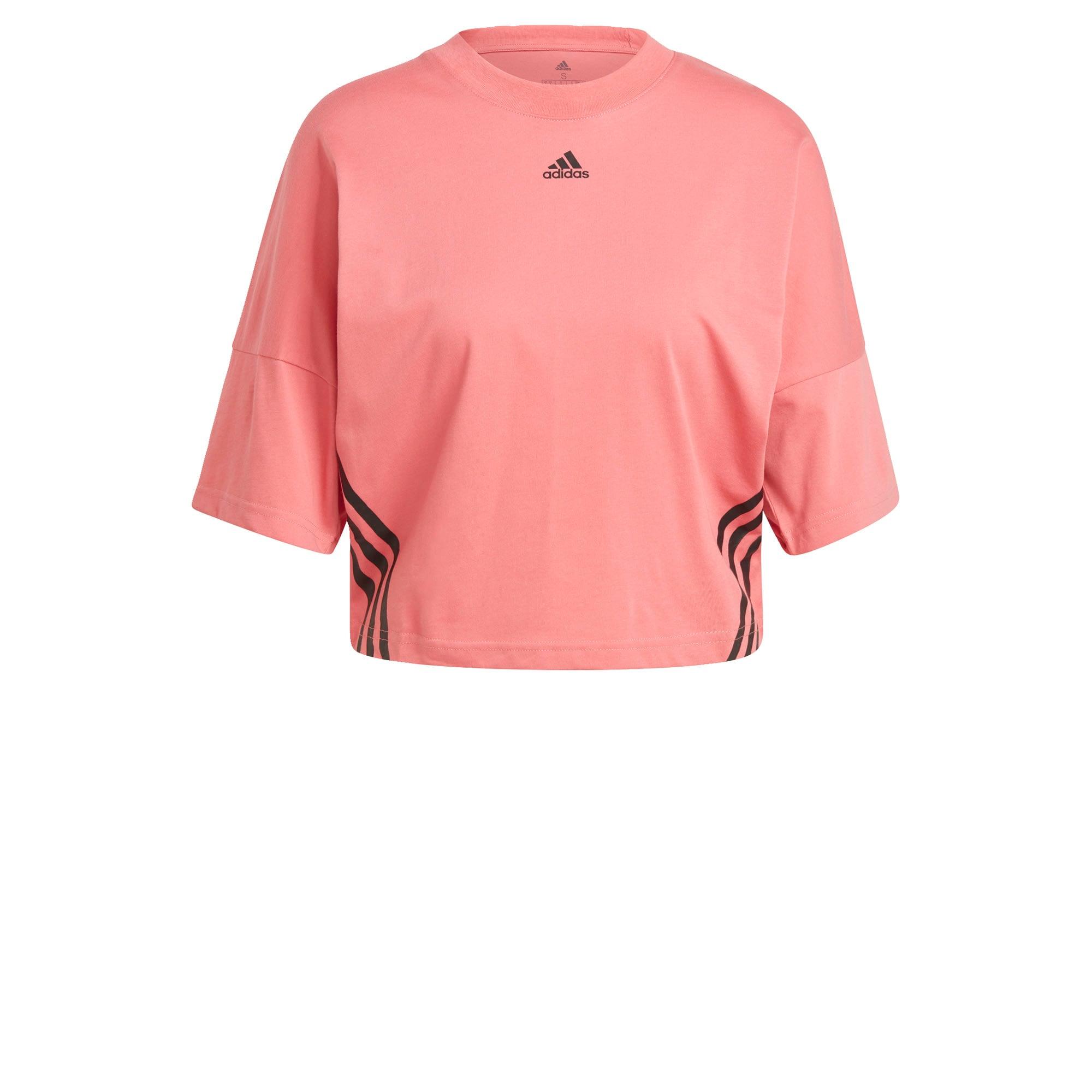 ADIDAS PERFORMANCE Sportiniai marškinėliai ryškiai rožinė spalva / juoda