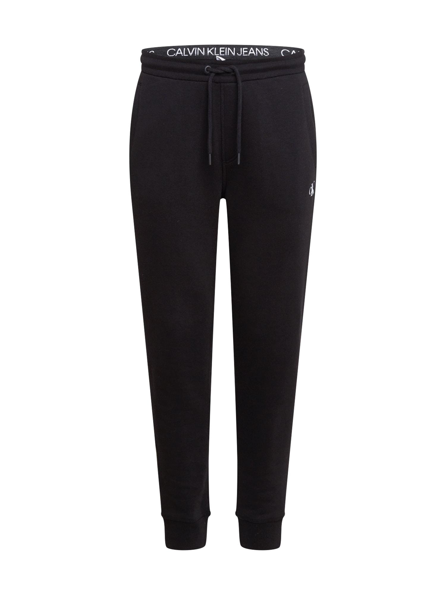 Calvin Klein Jeans Kalhoty  černá
