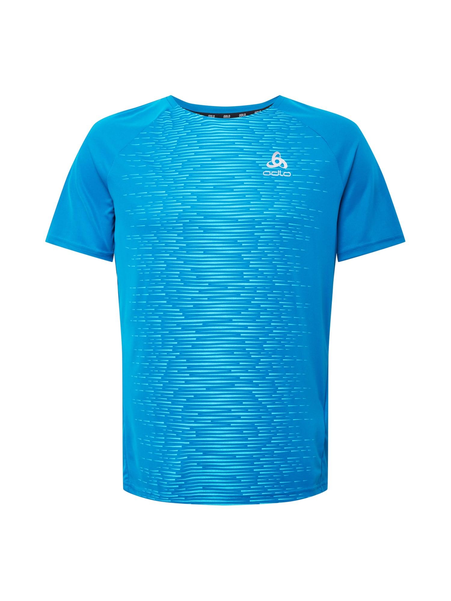 ODLO Sportiniai marškinėliai dangaus žydra / balta