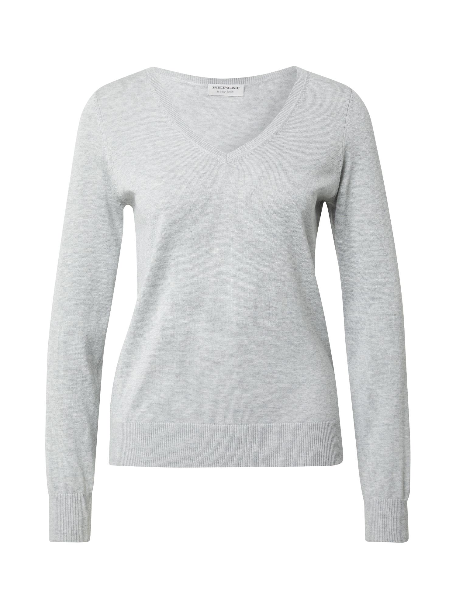 REPEAT Megztinis margai pilka
