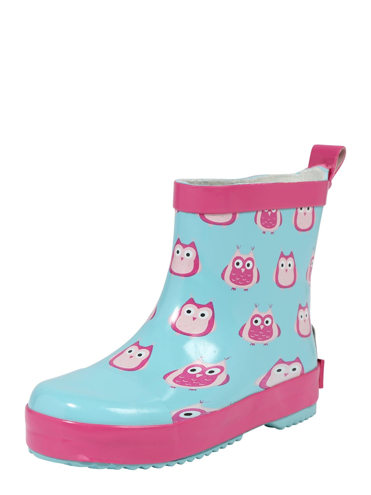 PLAYSHOES Guminiai batai balta / juoda / rožinė / rožių spalva / turkio spalva