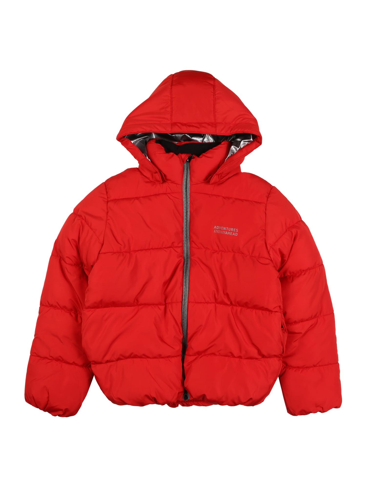 NAME IT Zimná bunda 'Milton'  melónová / strieborná