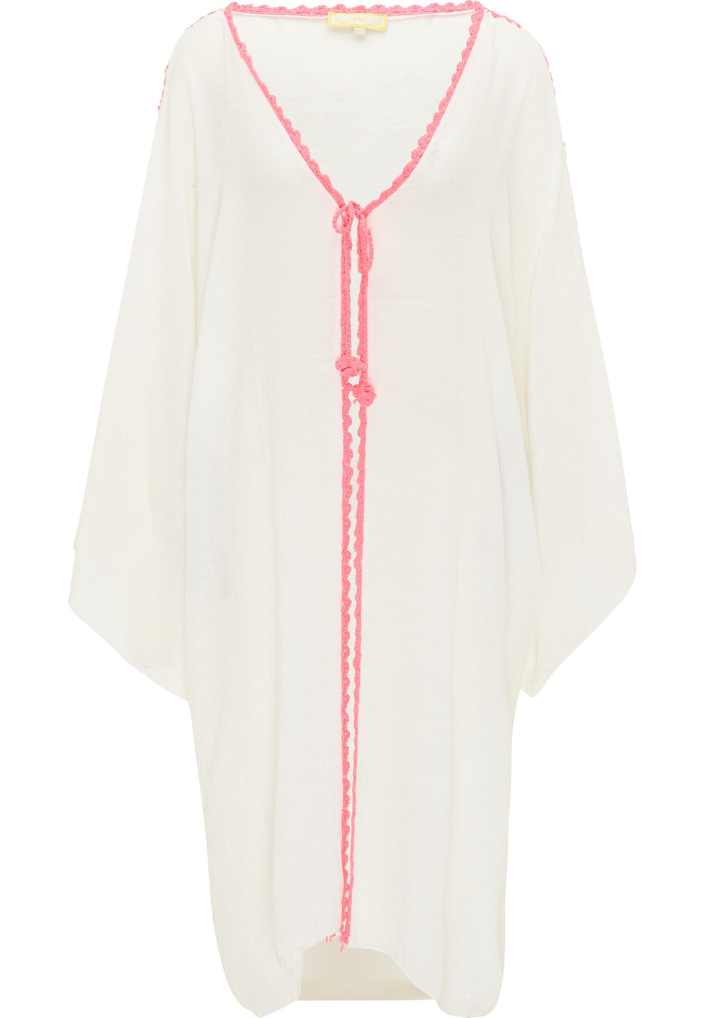 MYMO Kimono balta / rožinė / neoninė geltona