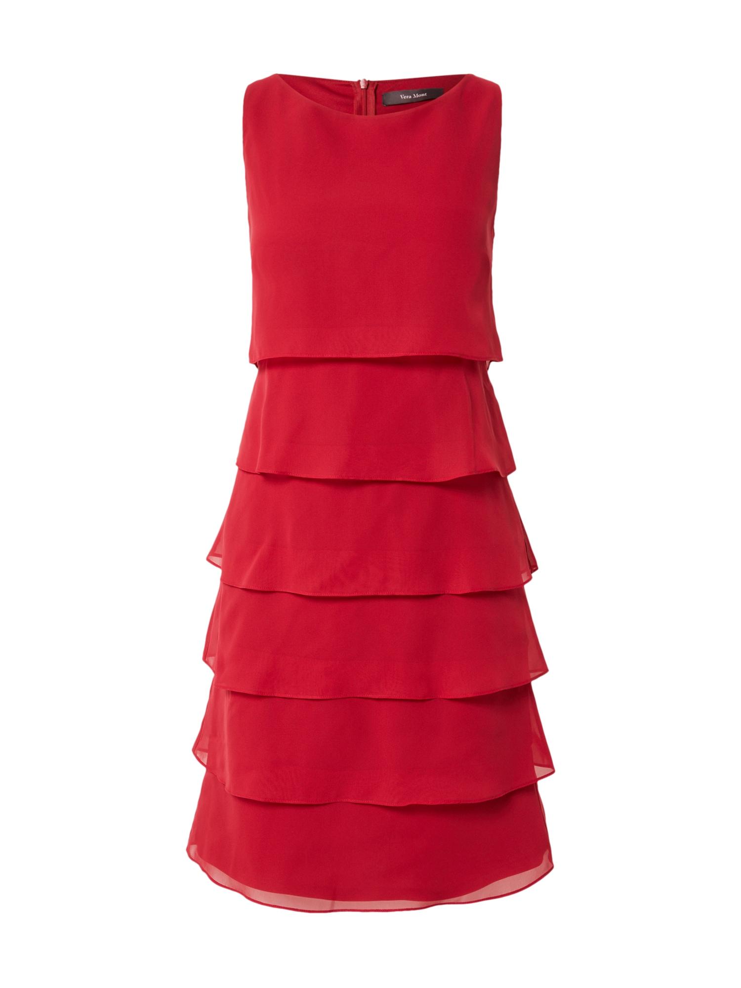 Vera Mont Kokteilinė suknelė karmino raudona