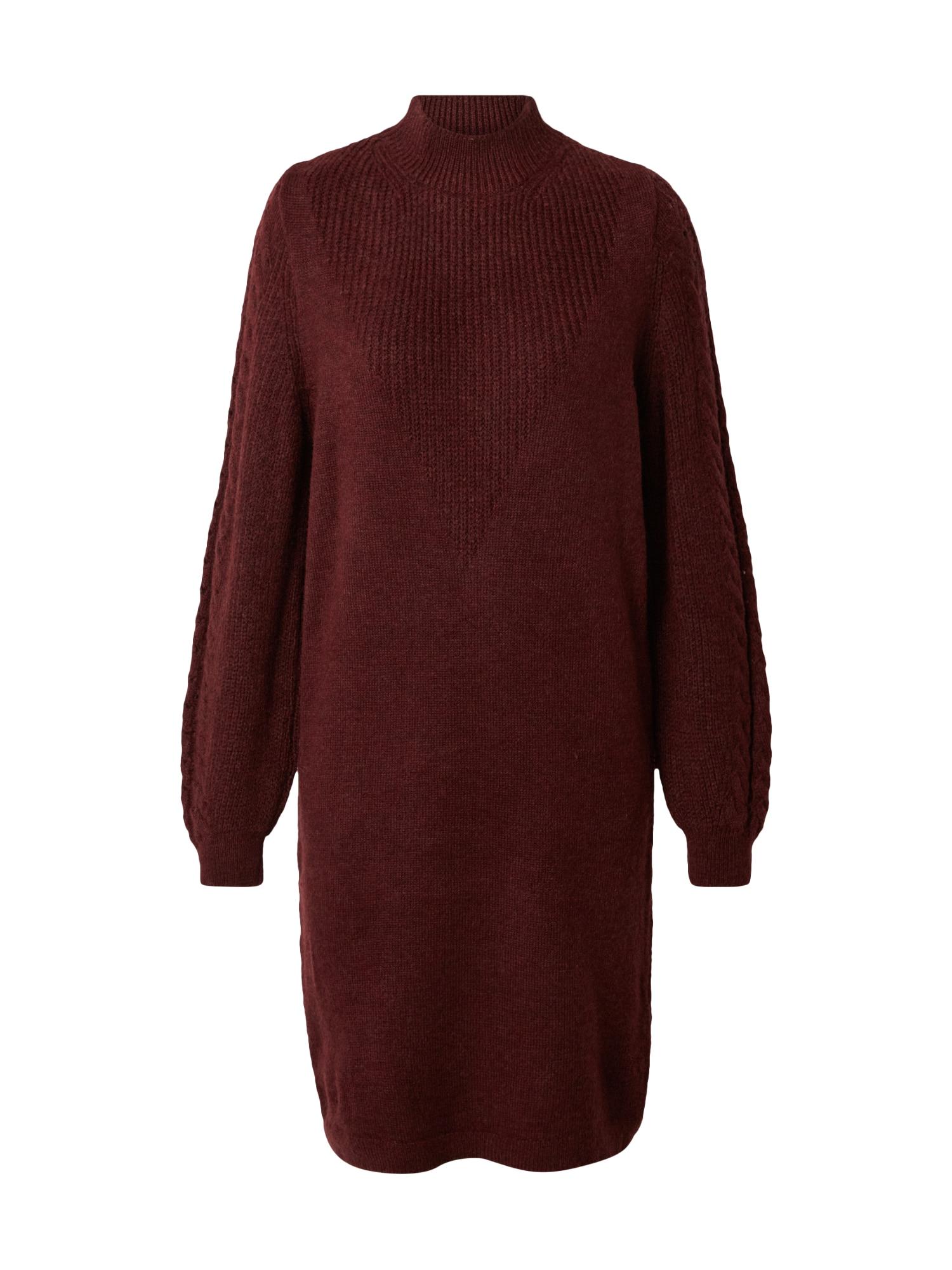 ONLY Úpletové šaty 'Pil'  vínově červená