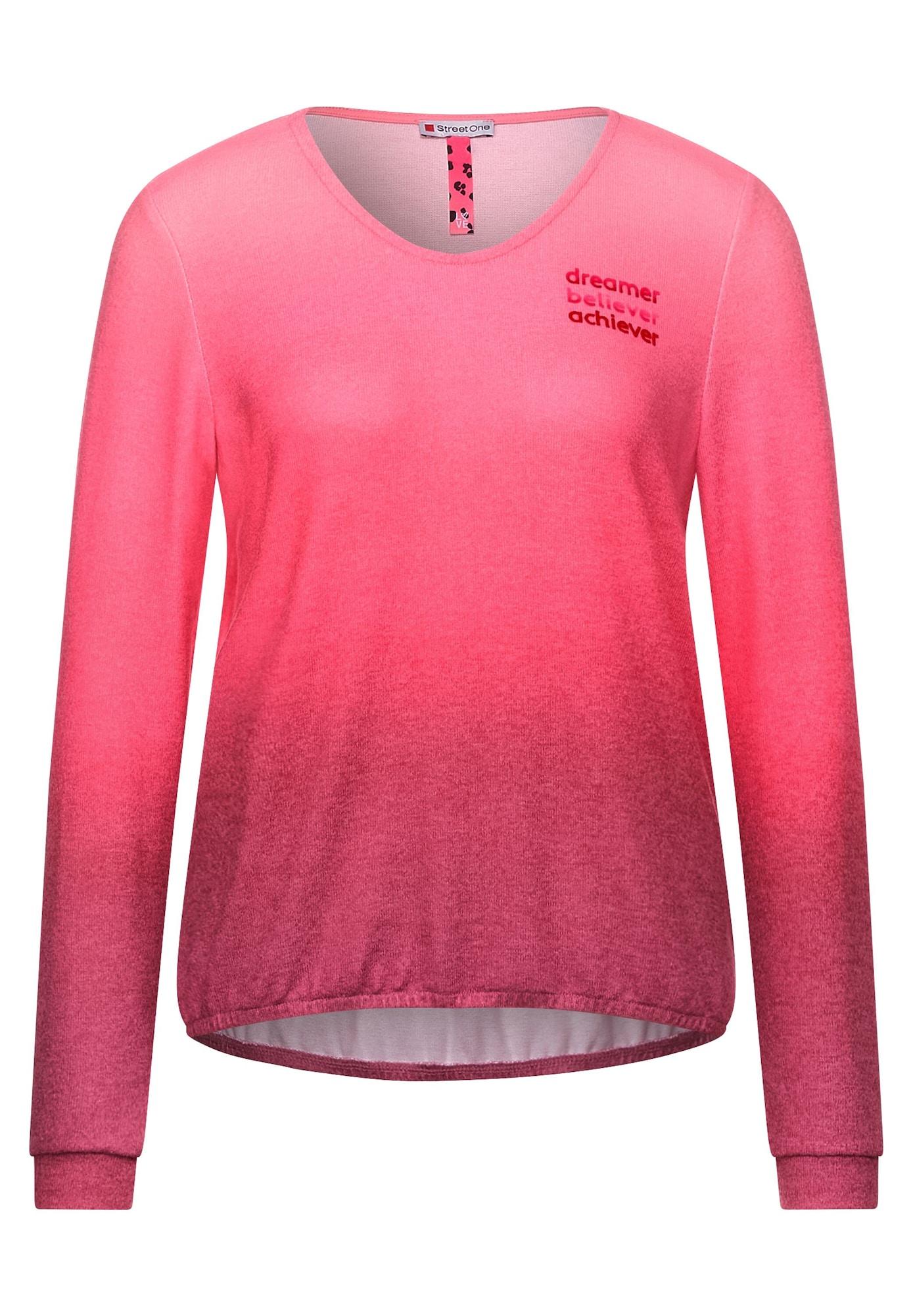 STREET ONE Tričko  pink / tmavě růžová / červená