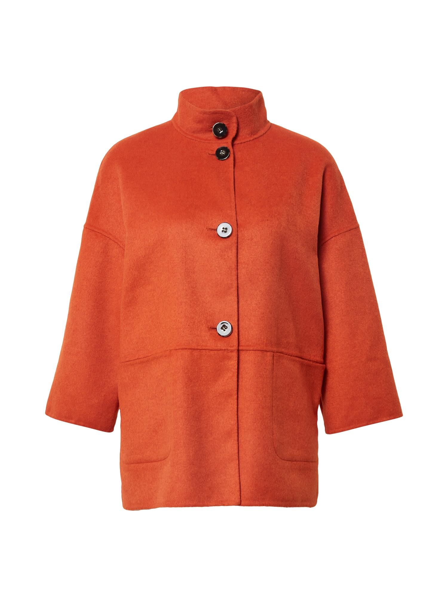 s.Oliver BLACK LABEL Demisezoninė striukė tamsiai oranžinė