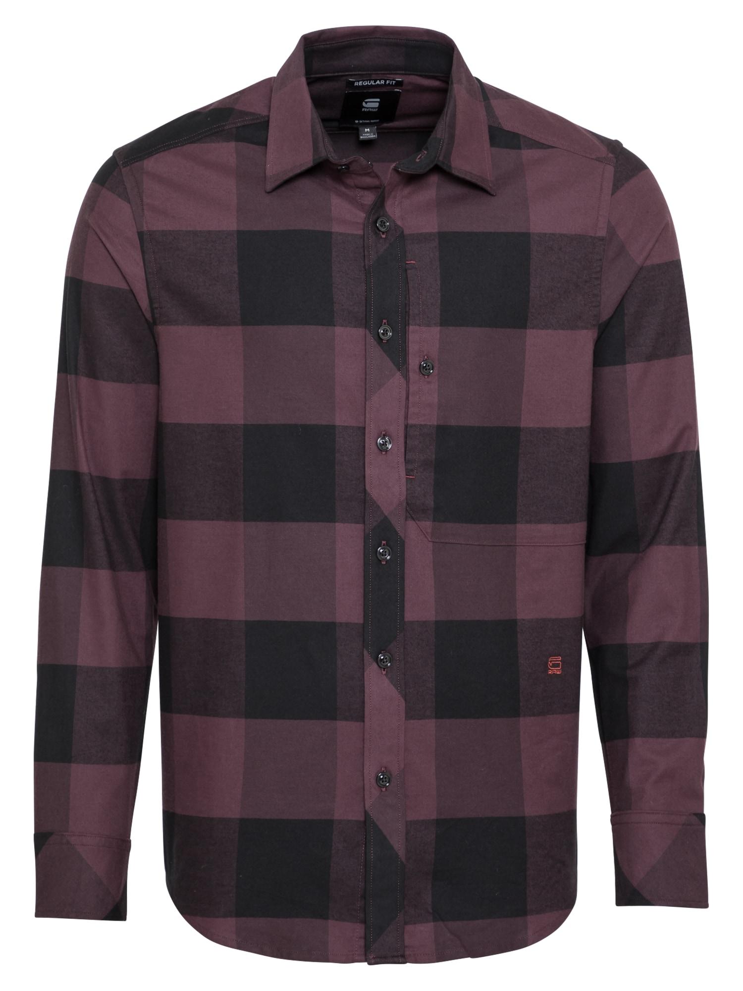 G-Star RAW Košile 'Stalt'  lilek / černá