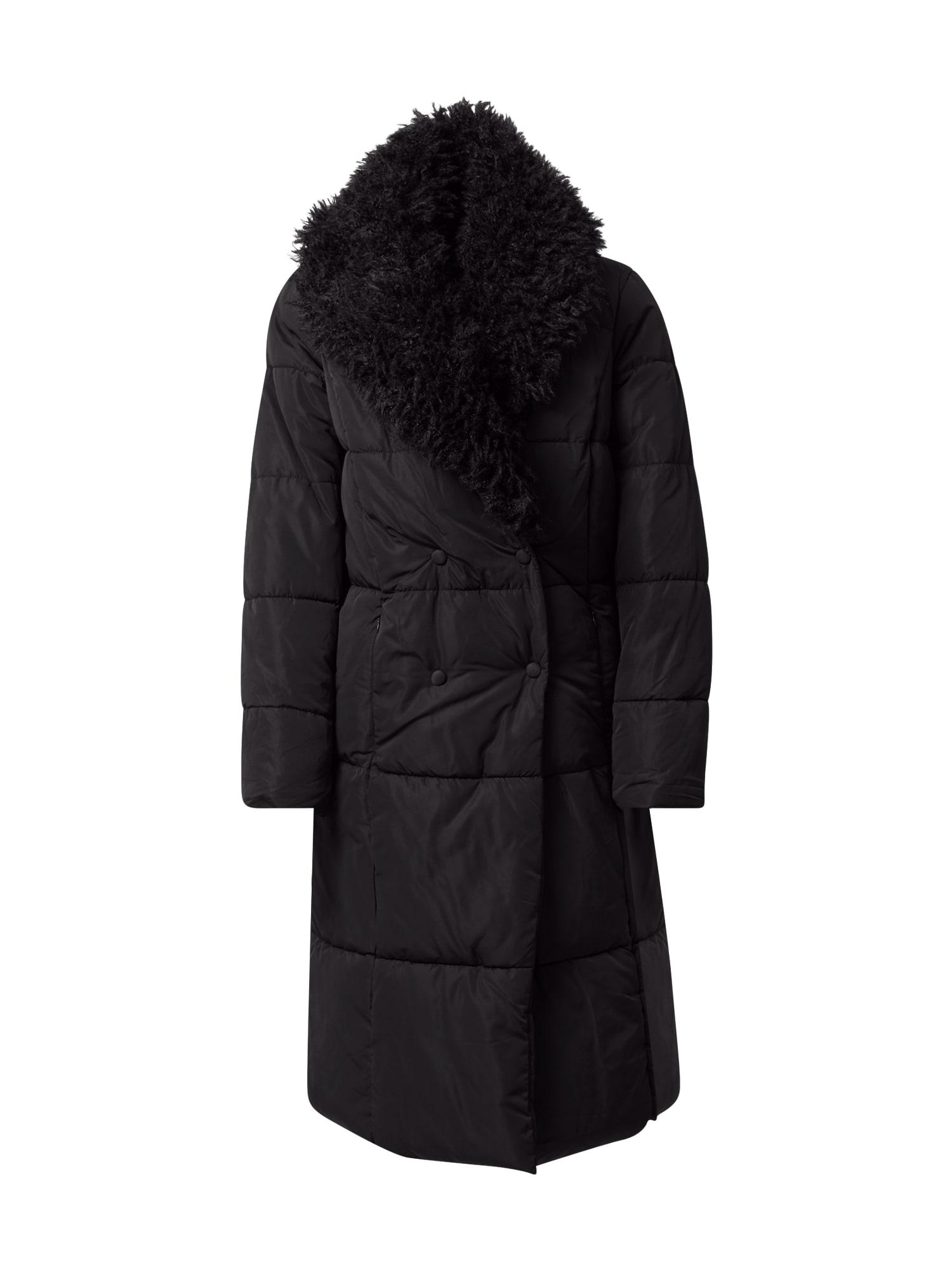 VERO MODA Žieminis paltas juoda