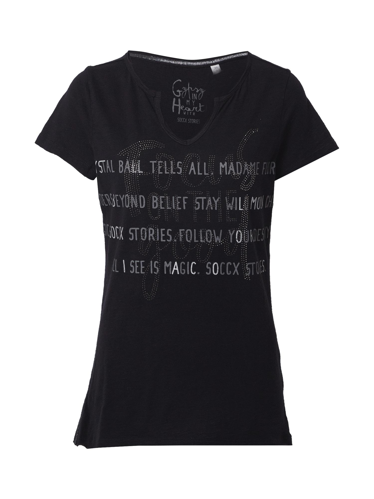Soccx Marškinėliai juoda