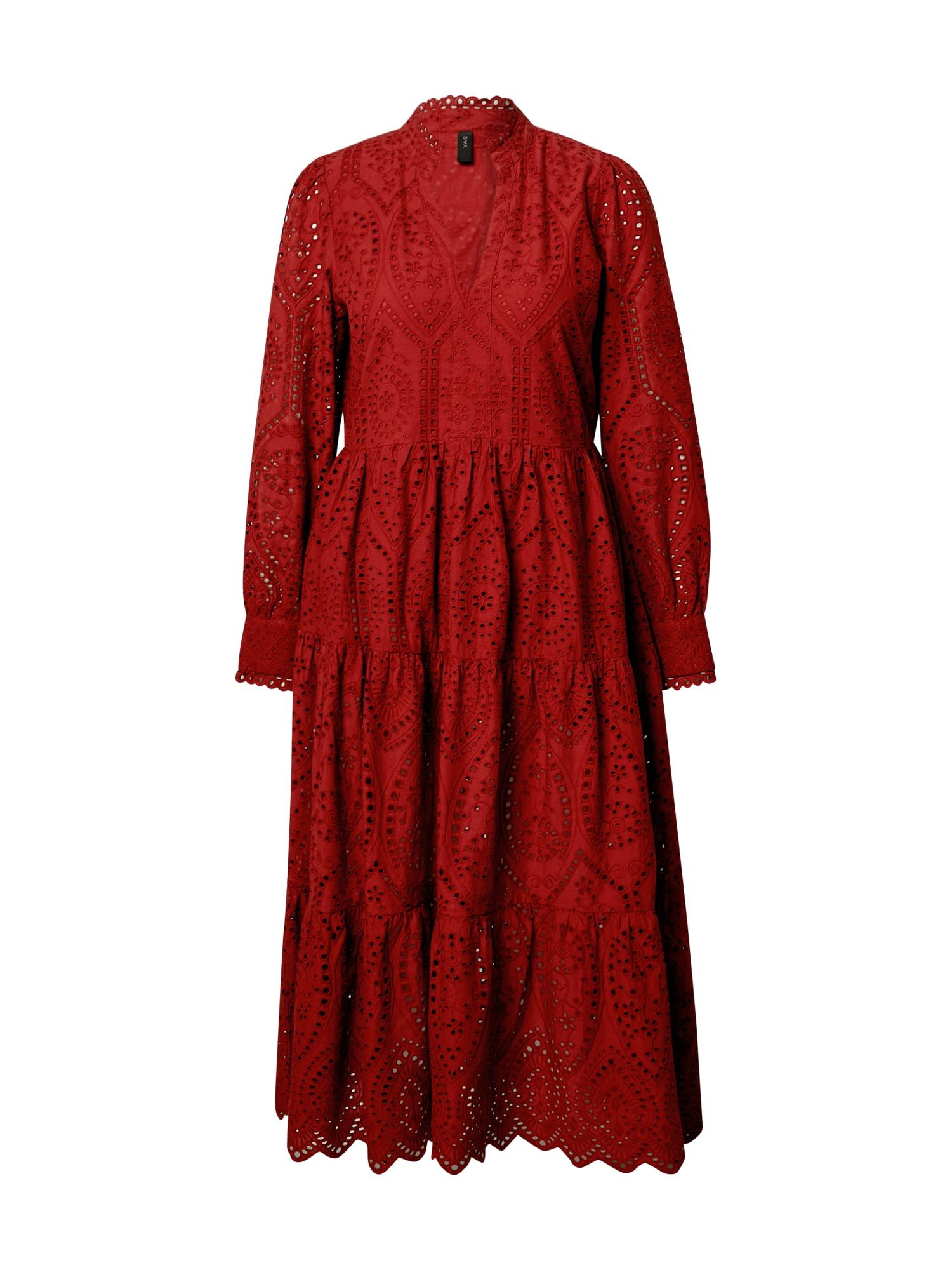 Y.A.S Košilové šaty 'Holi'  červená