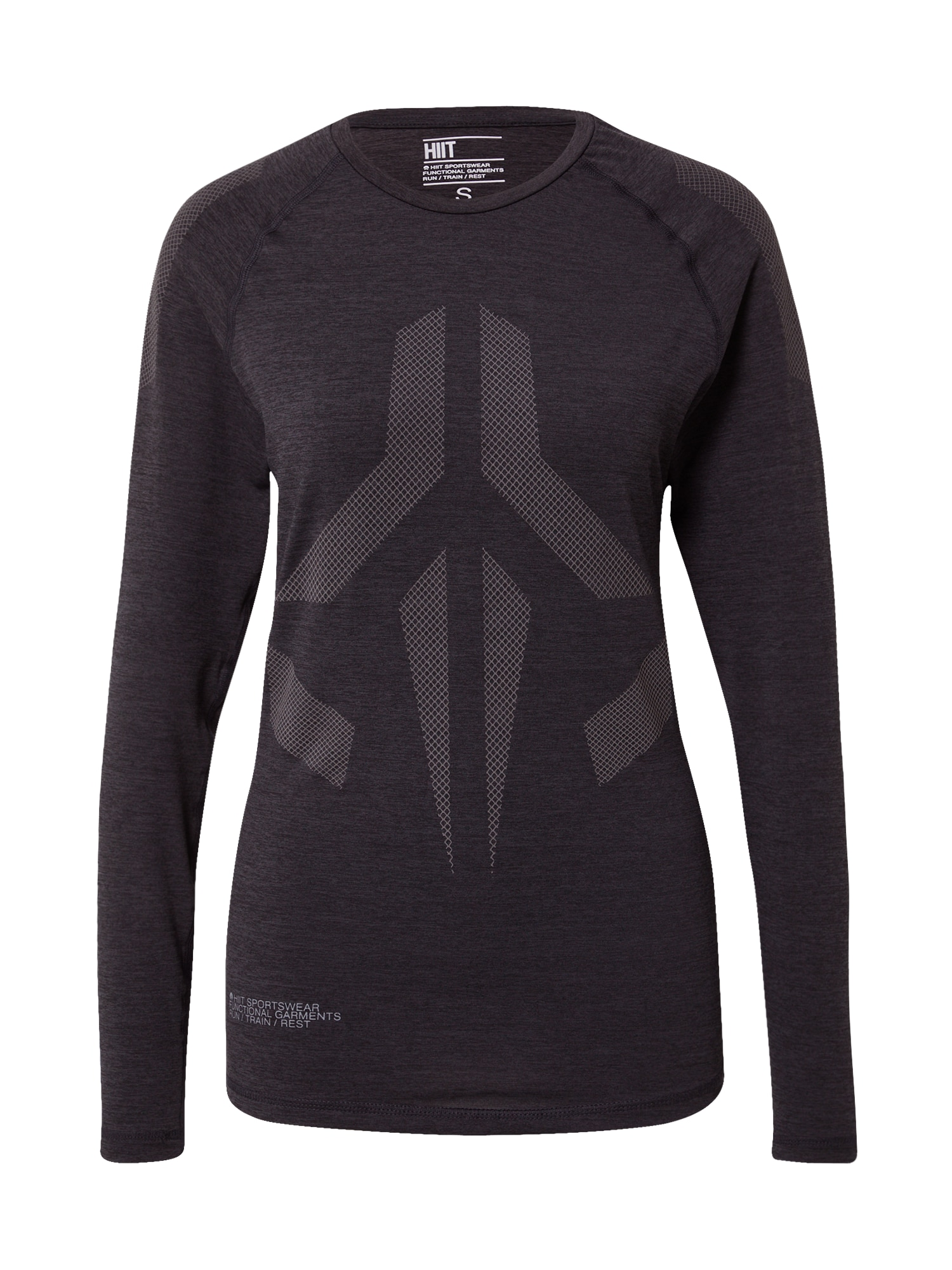 HIIT Sportiniai marškinėliai juoda / pilka