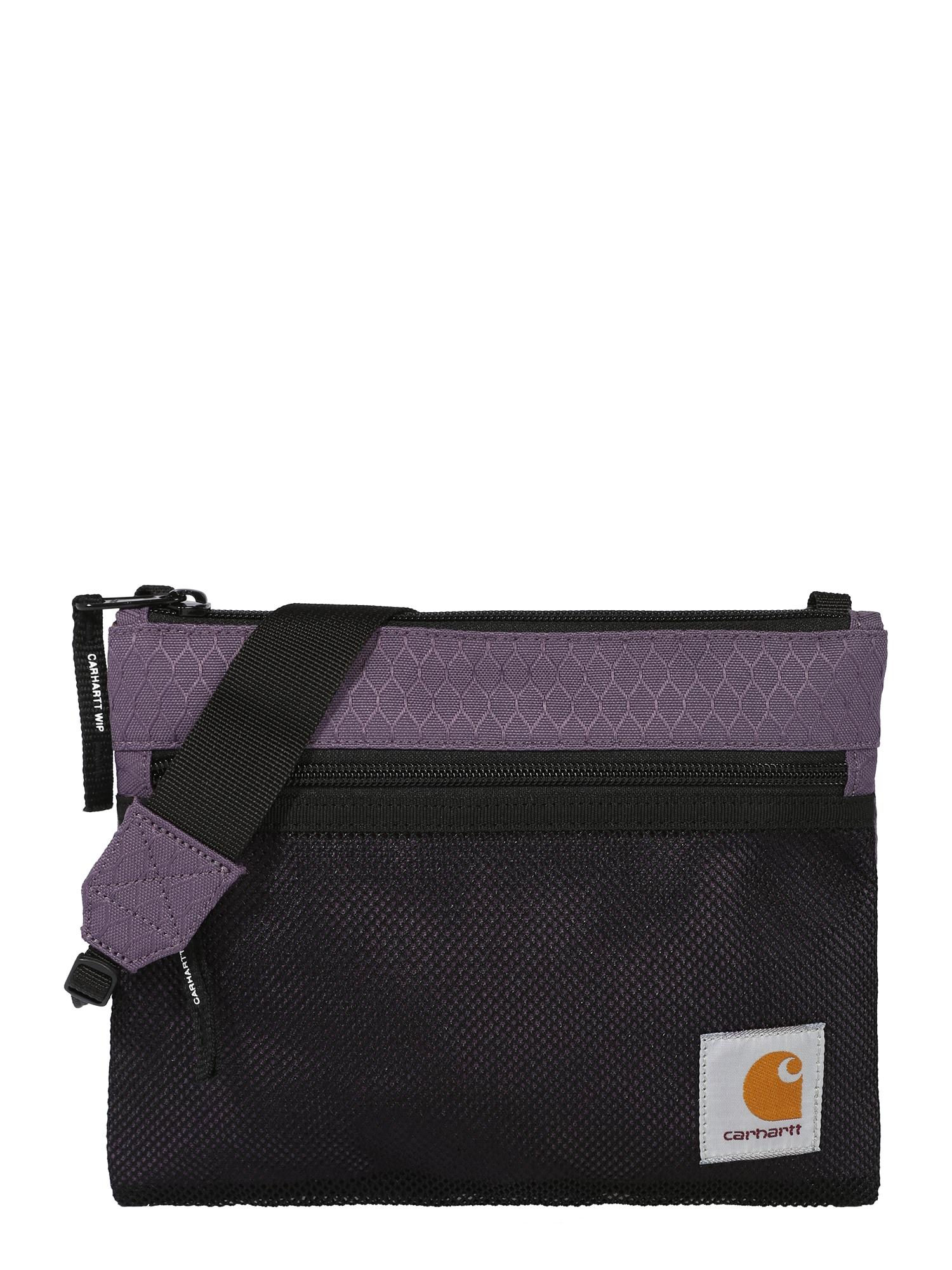 Carhartt WIP Rankinė su ilgu dirželiu juoda / šviesiai violetinė