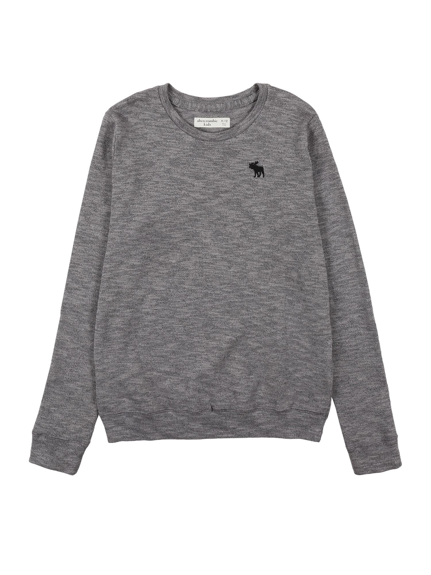 Abercrombie & Fitch Megztinis margai pilka / juoda / šviesiai pilka