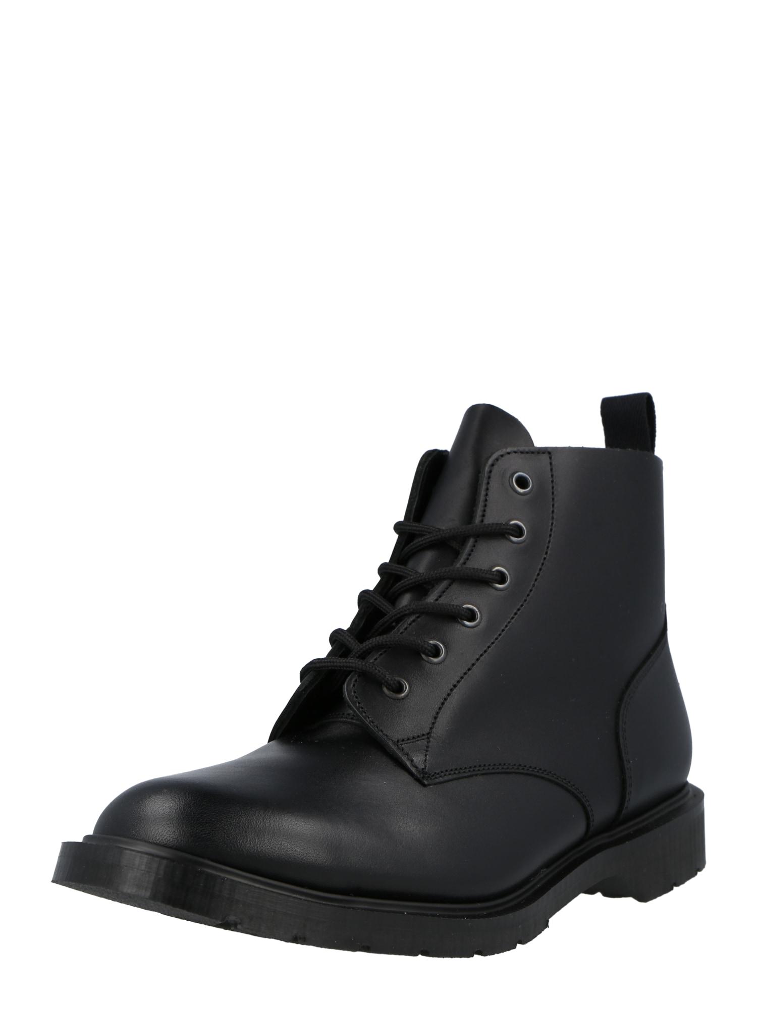 Solovair Auliniai batai su raišteliais juoda