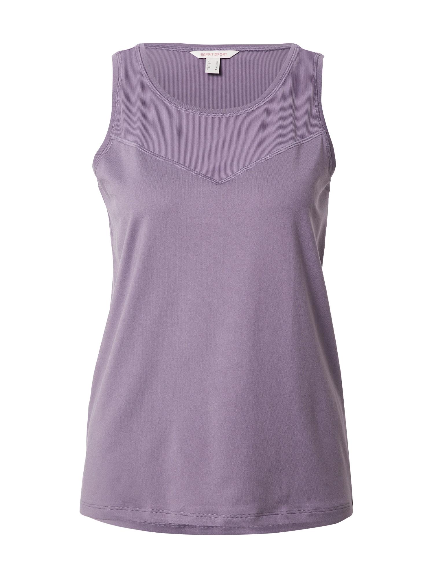 ESPRIT SPORT Sportiniai marškinėliai be rankovių šviesiai violetinė