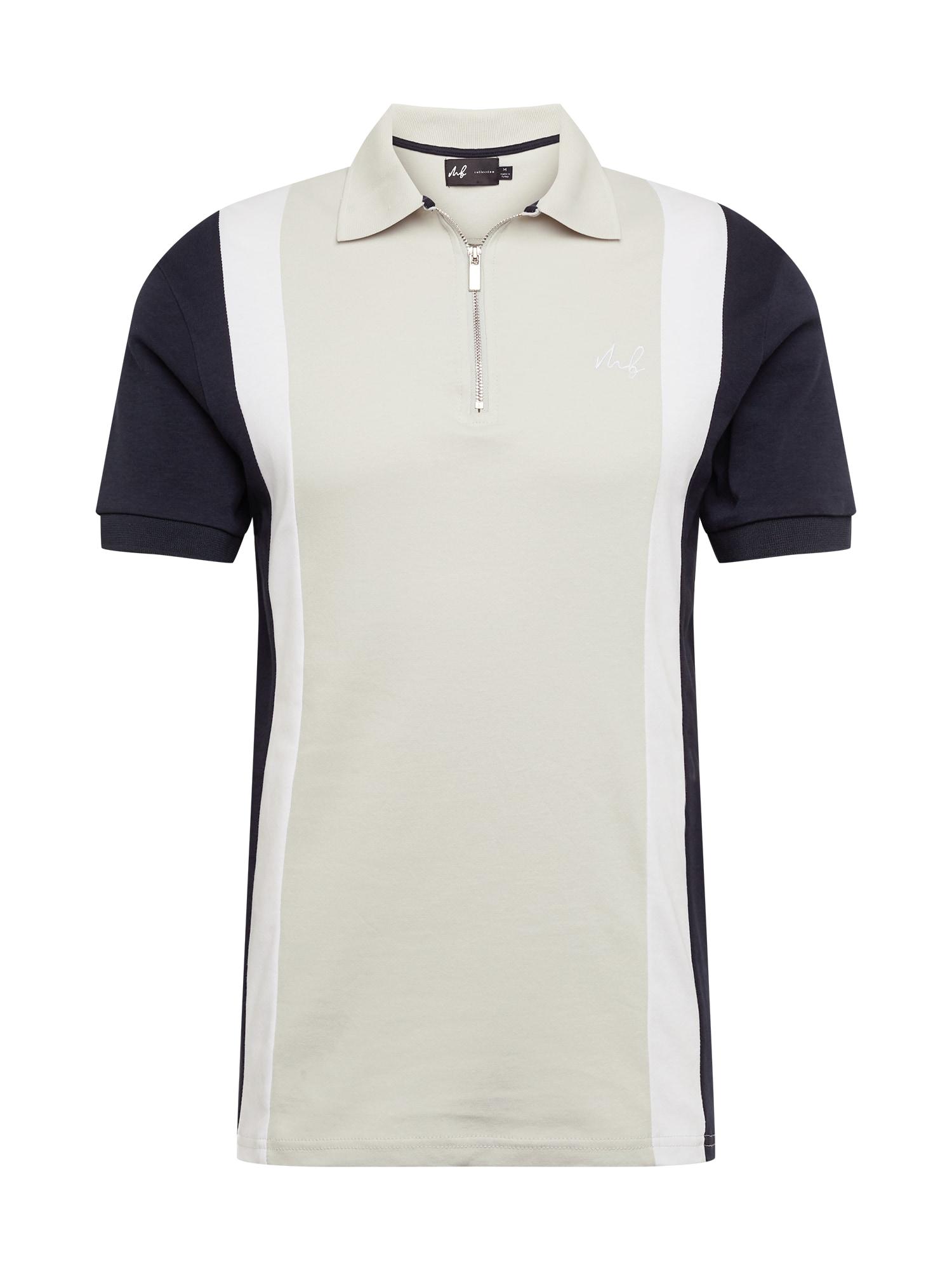 BURTON MENSWEAR LONDON Marškinėliai tamsiai mėlyna / balta / smėlio