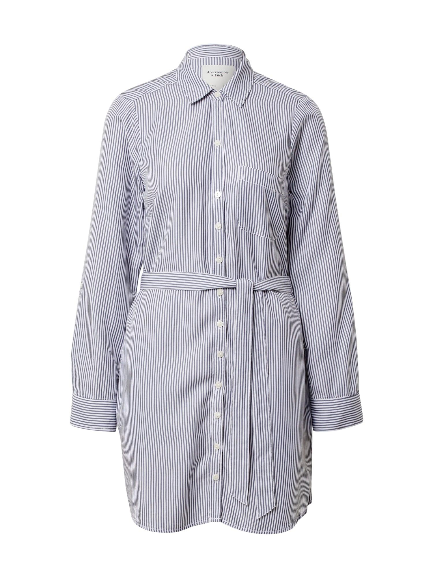 Abercrombie & Fitch Palaidinės tipo suknelė balta / mėlyna