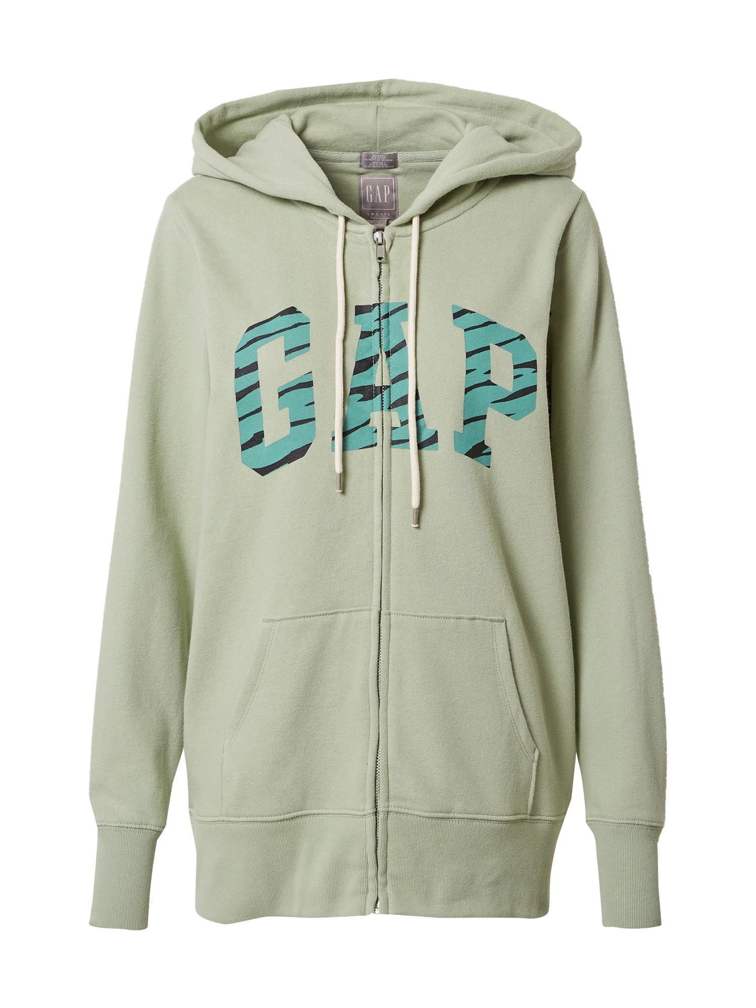 GAP Džemperis šviesiai žalia / nefrito spalva / juoda