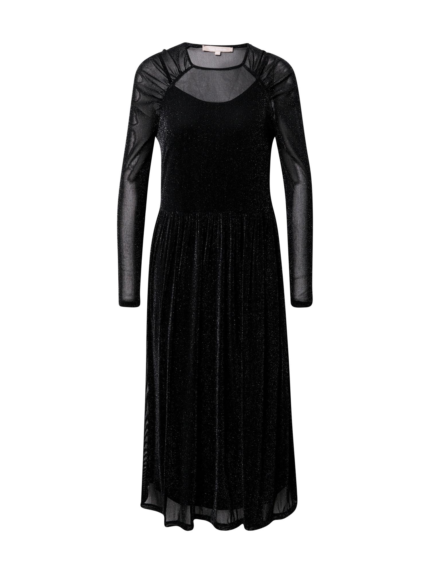 Soft Rebels Společenské šaty 'Albertine'  černá / stříbrná