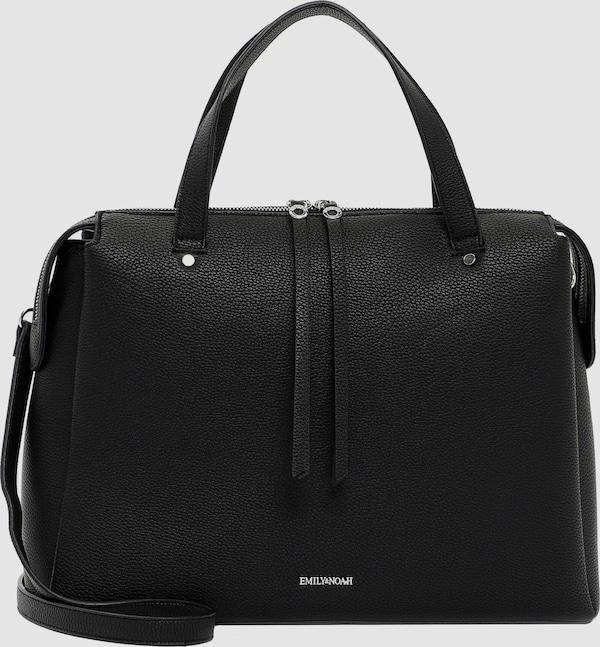Modische Handtasche der Marke Emily & Noah mit Reißverschluss und verstellbarem Umhängeriemen. Ihr elegantes, schlichtes Design im Echtleder-Optik macht sie zum idealen modischen Begleiter für den Büroalltag.