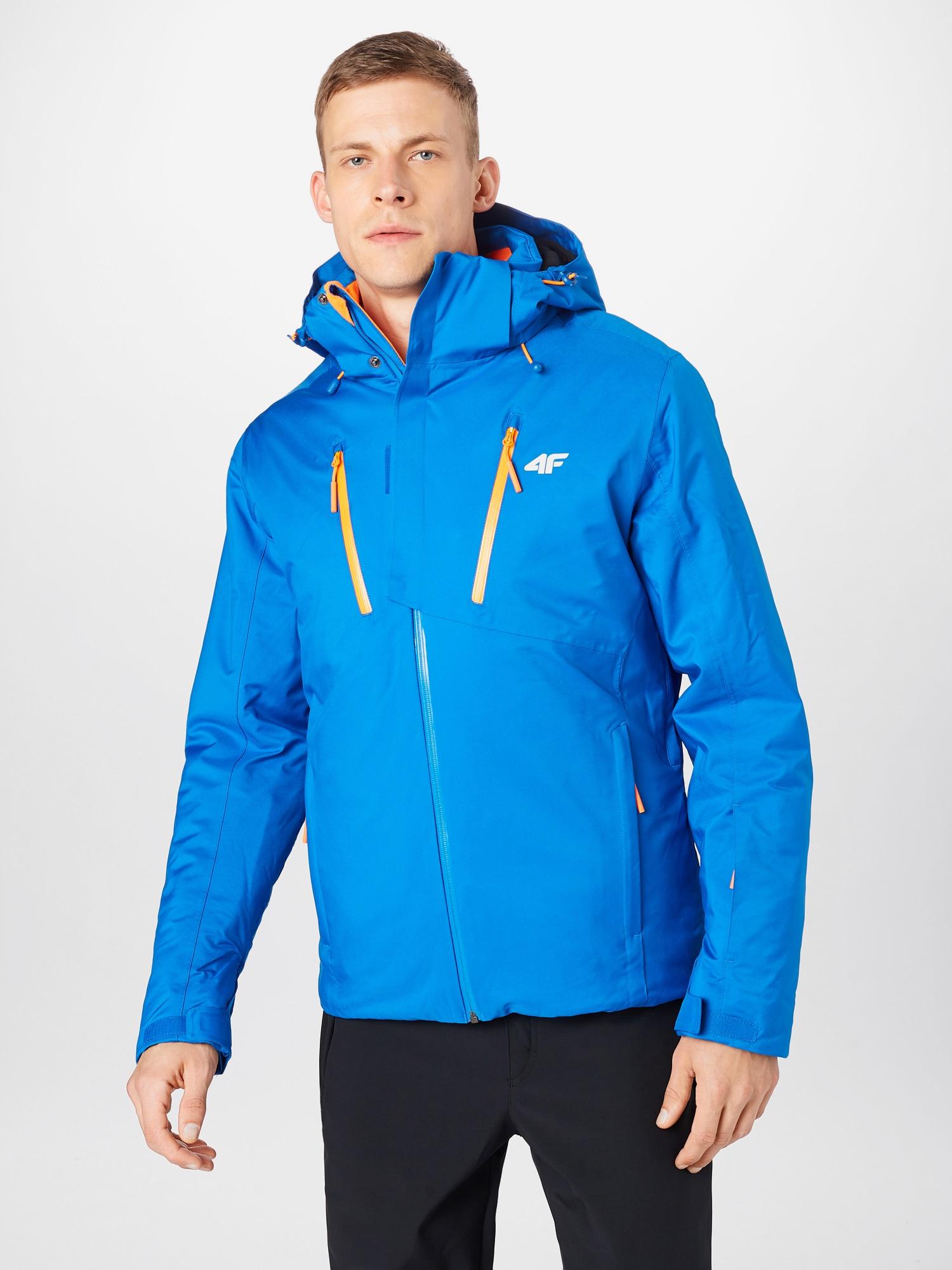 4F Outdoorjacka  ljusblå / orange