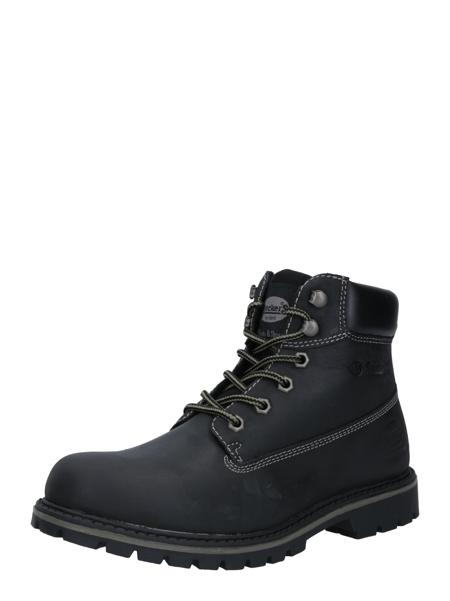 Dockers by Gerli Auliniai batai su raišteliais juoda / pilka