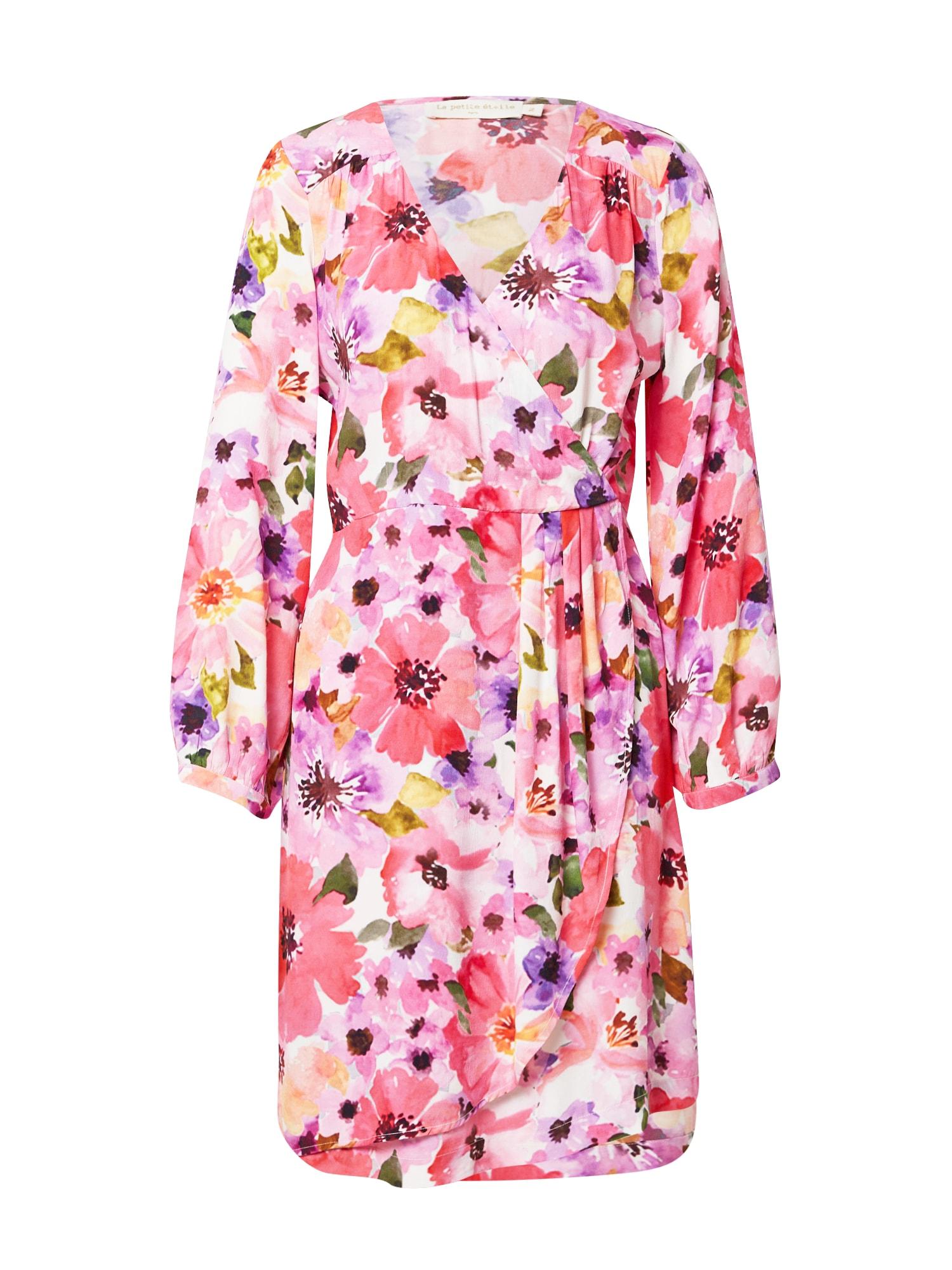 La petite étoile Palaidinės tipo suknelė rožių spalva / pitajų spalva / kremo / granatų spalva / purpurinė