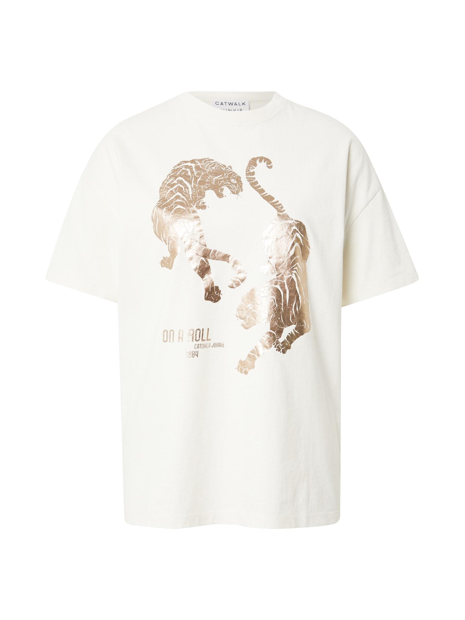 CATWALK JUNKIE Marškinėliai balta / auksas