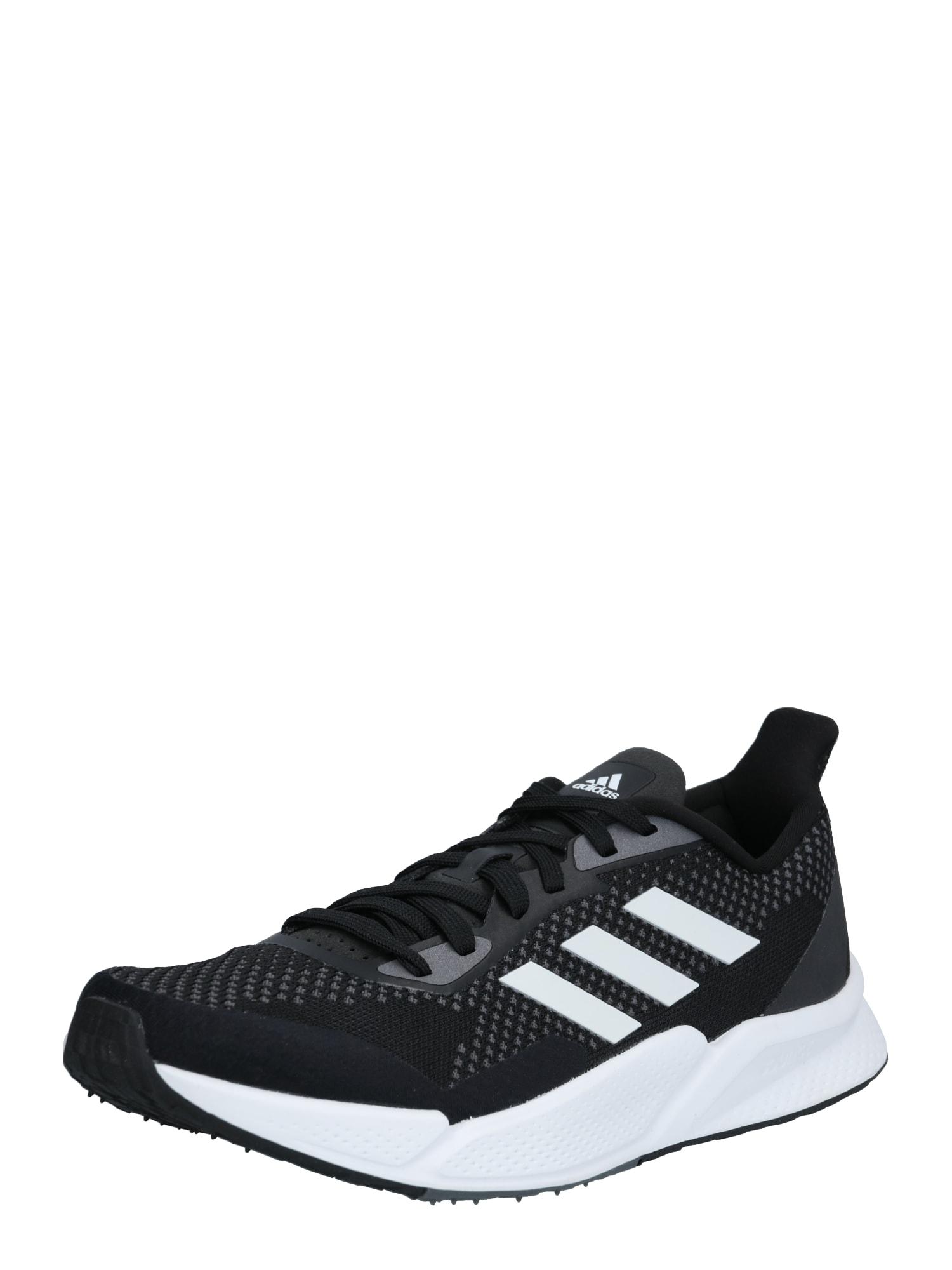 ADIDAS PERFORMANCE Bėgimo batai juoda / balta / pilka