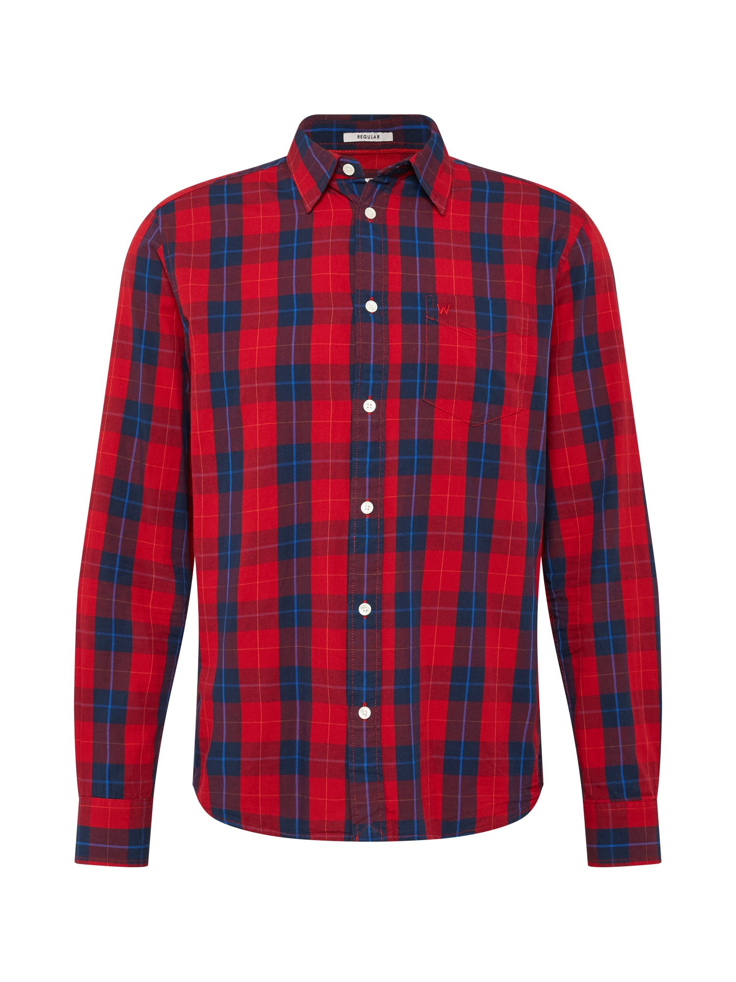 WRANGLER Marškiniai raudona / tamsiai mėlyna