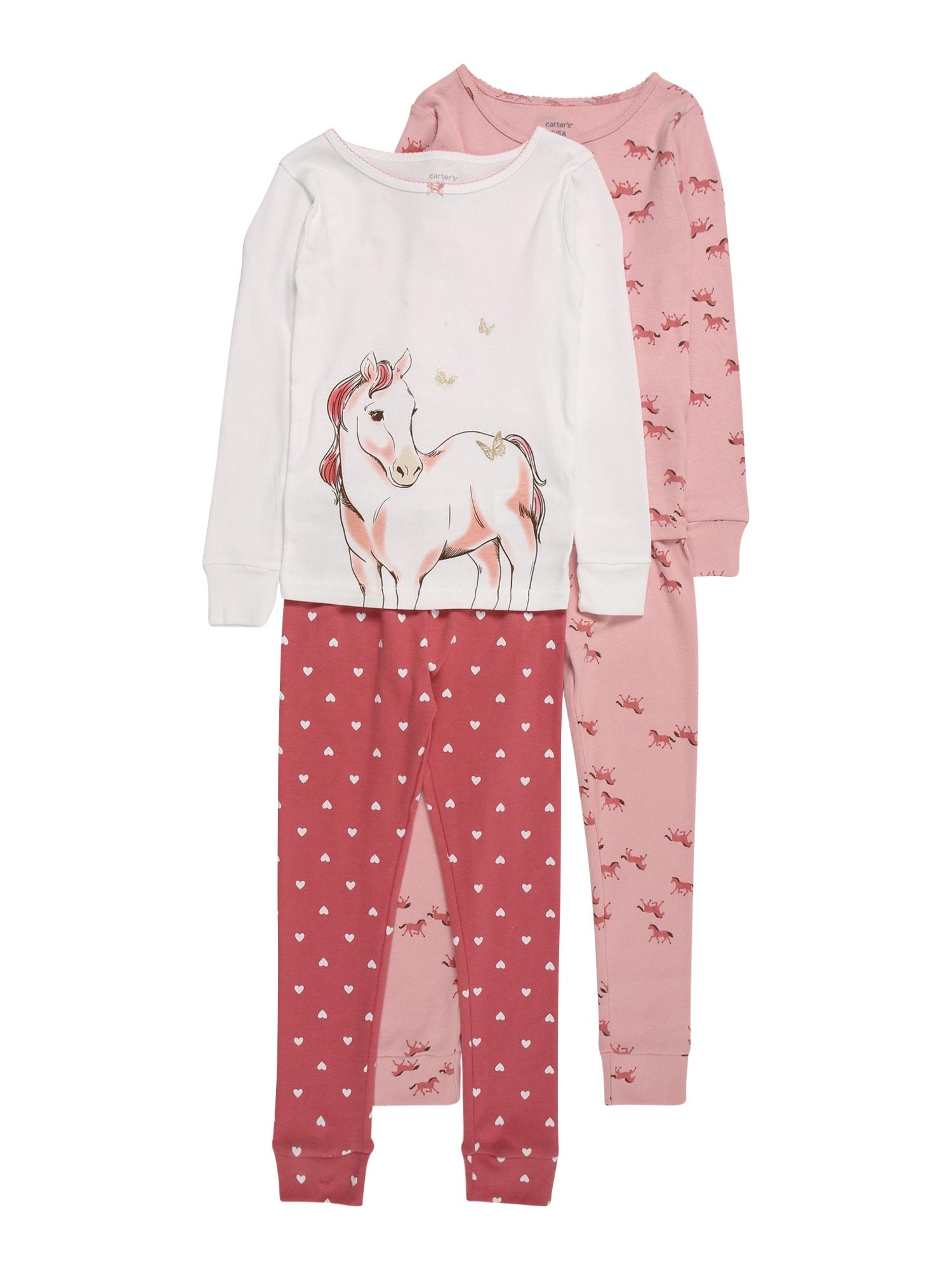 Carter's Miego kostiumas 'HORSE' balta / pastelinė raudona / rožių spalva