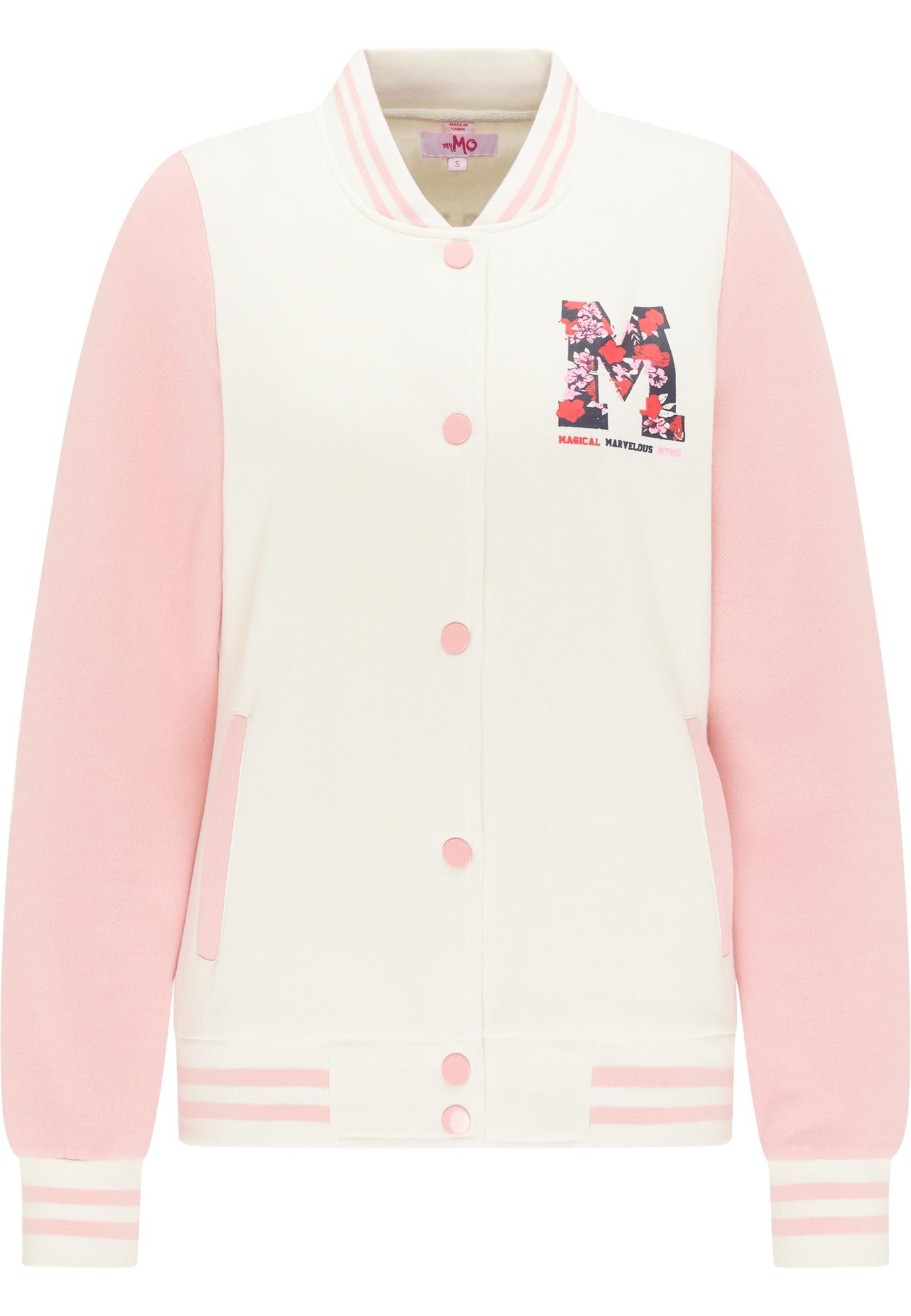 MYMO Džemperis juoda / vilnos balta / šviesiai rožinė / šviesiai raudona
