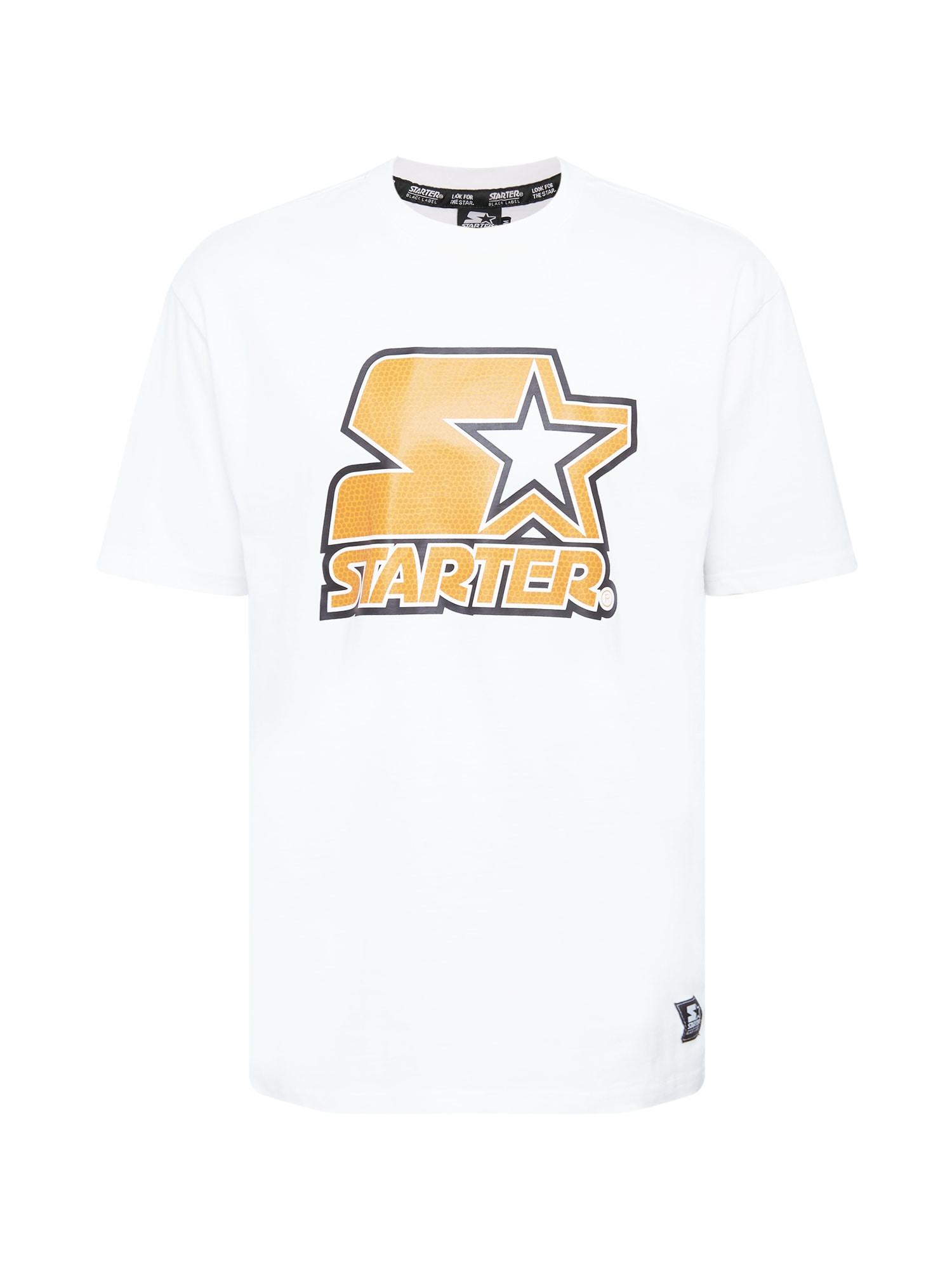 Starter Black Label Marškinėliai balta / juoda / tamsiai geltona