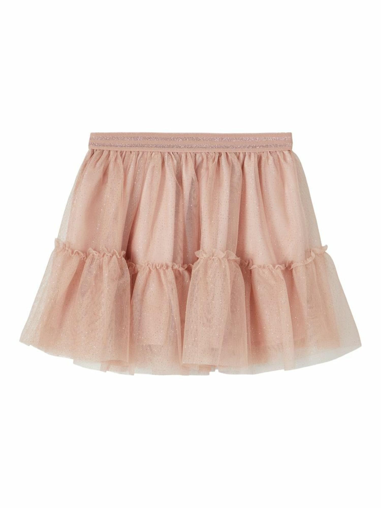 NAME IT Sijonas ryškiai rožinė spalva
