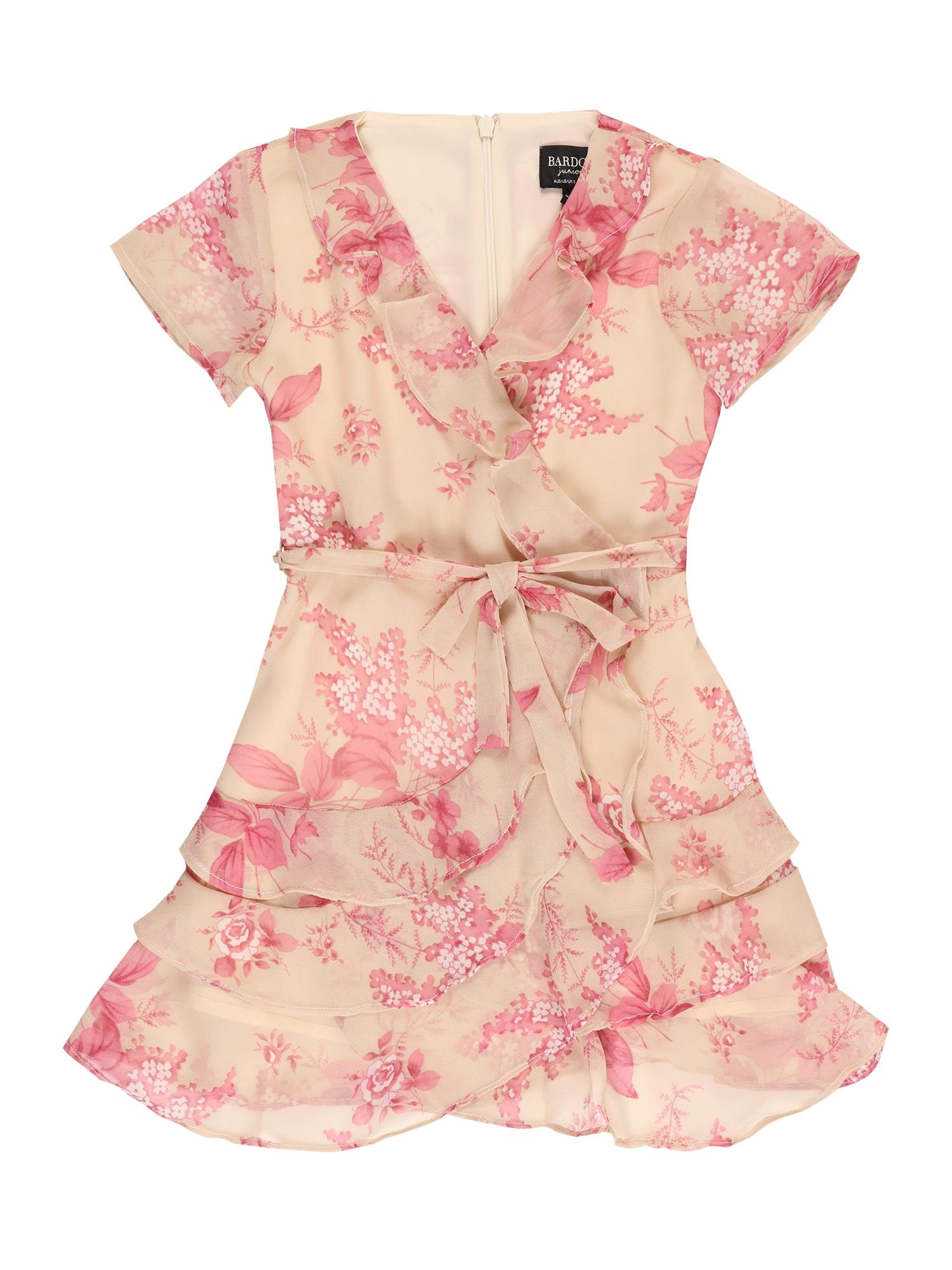 Bardot Junior Suknelė rožių spalva / smėlio spalva / balta / rožinė
