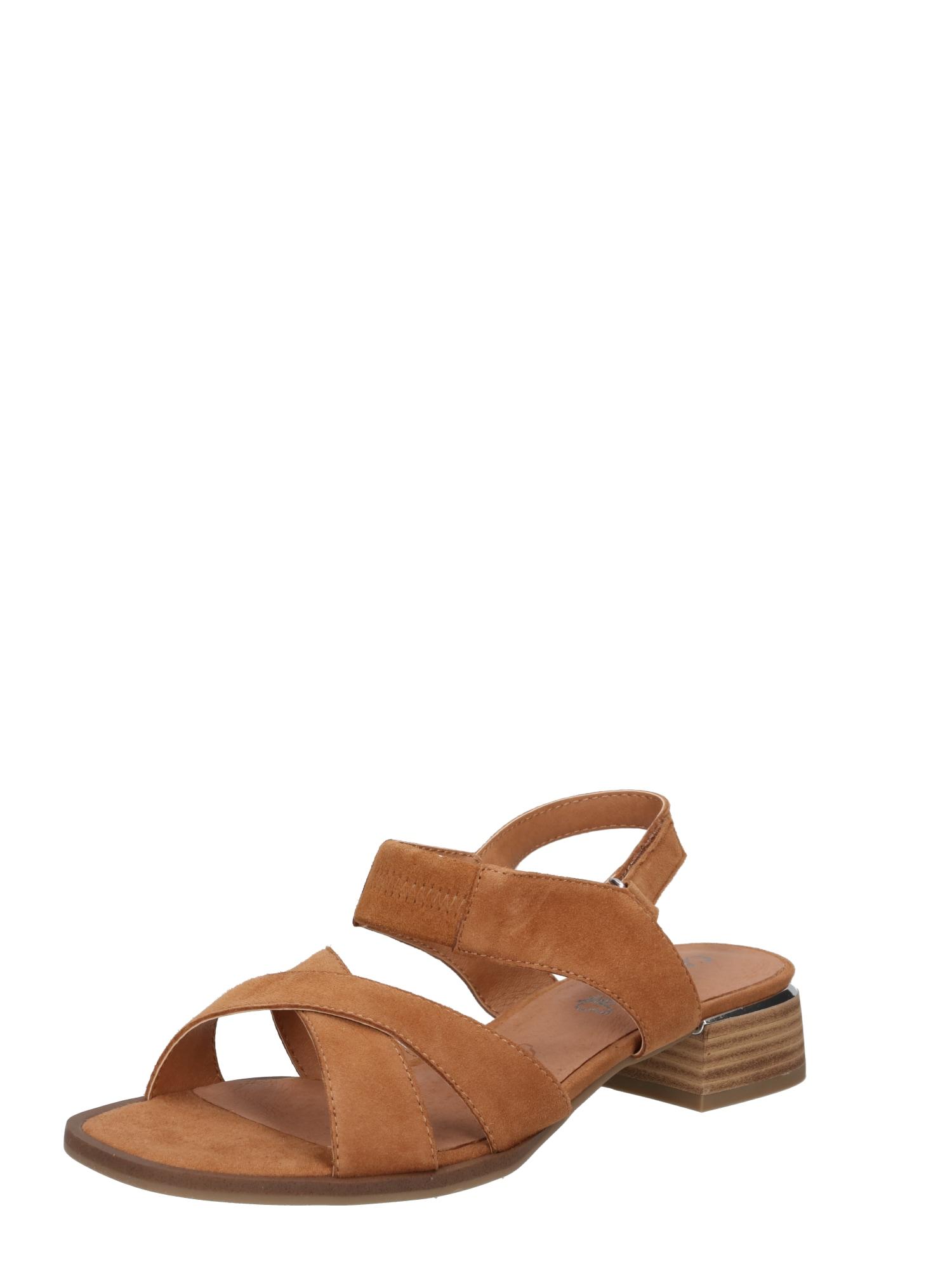 CAPRICE Sandalai šviesiai ruda