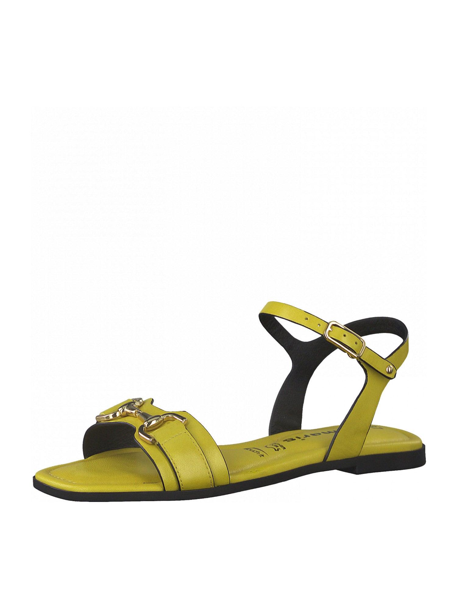 TAMARIS Páskové sandály  citronová