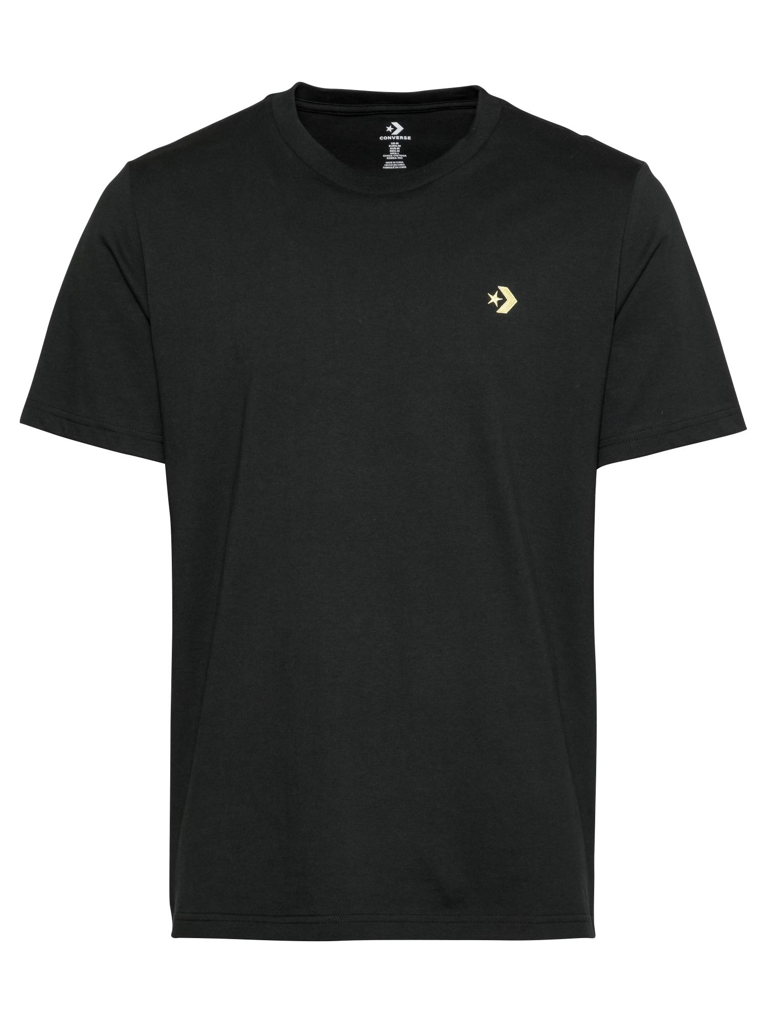 CONVERSE Marškinėliai juoda / mišrios spalvos