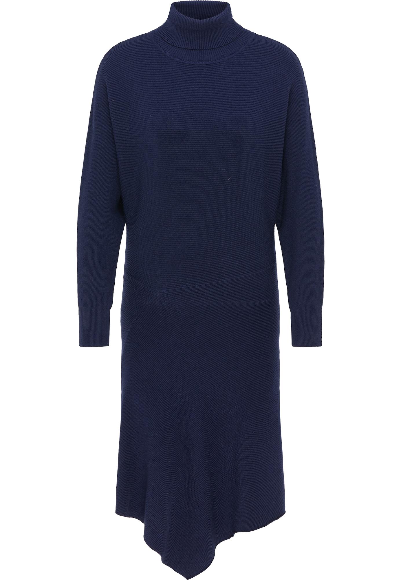 usha WHITE LABEL Megzta suknelė tamsiai mėlyna