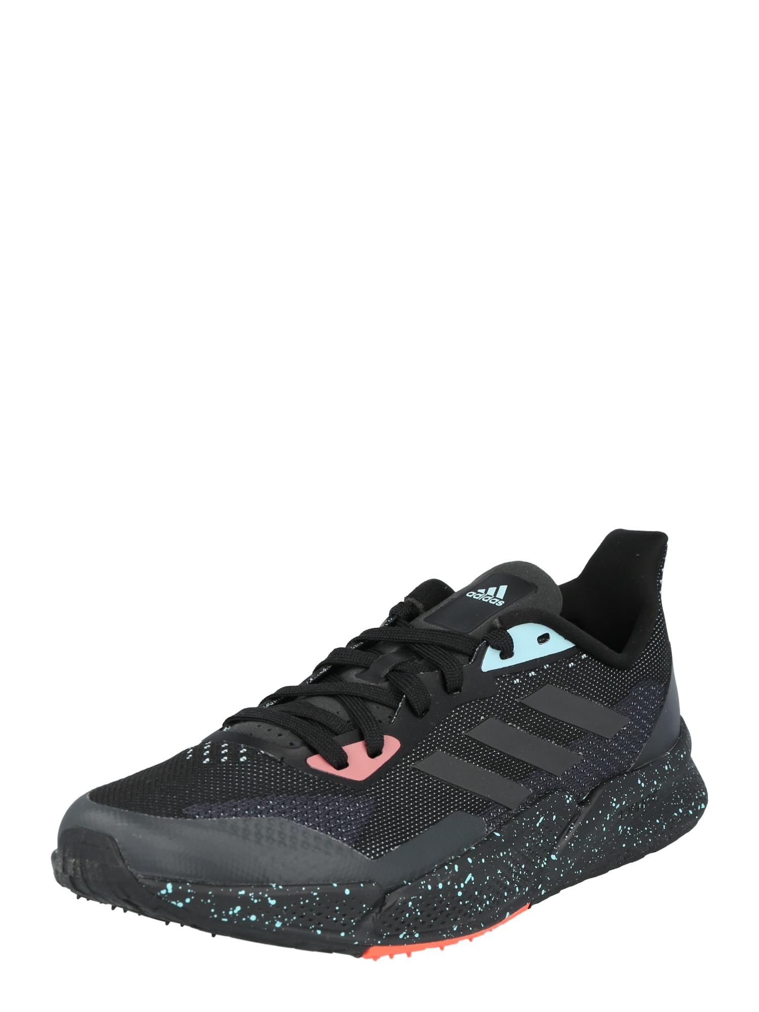 ADIDAS PERFORMANCE Bėgimo batai juoda / šviesiai mėlyna / ryškiai rožinė spalva