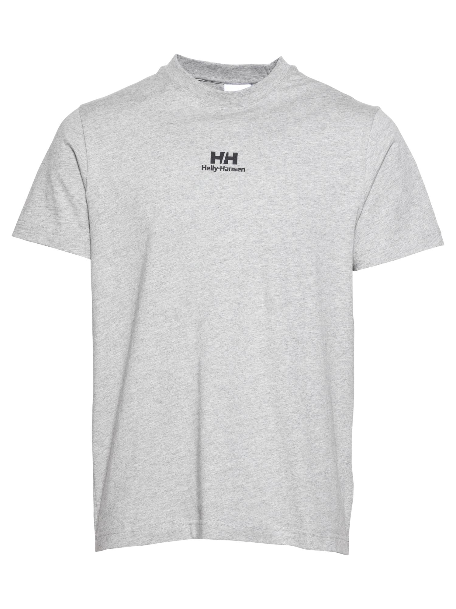 HELLY HANSEN Marškinėliai margai pilka / juoda