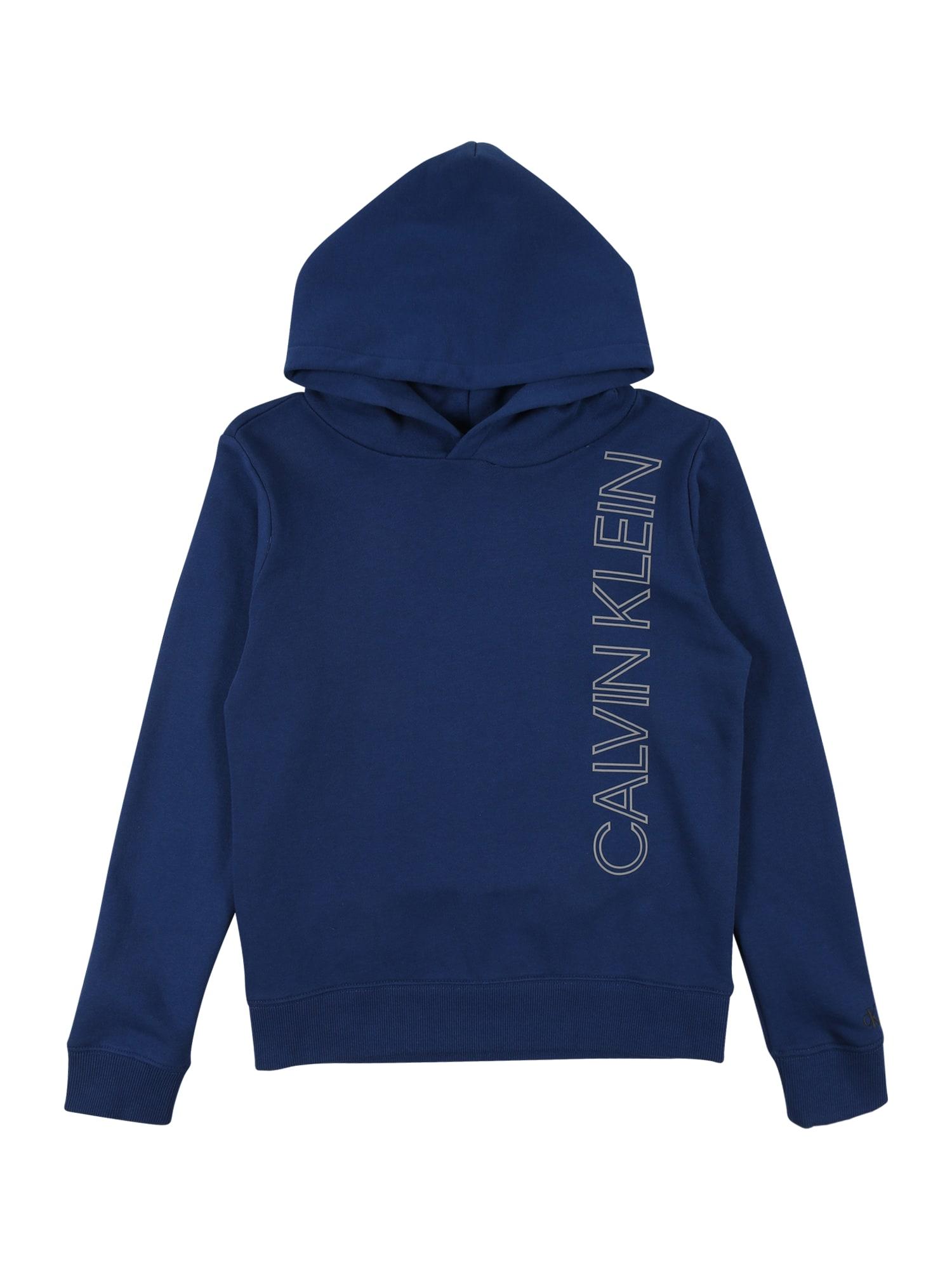 Calvin Klein Jeans Megztinis be užsegimo mėlyna / balta