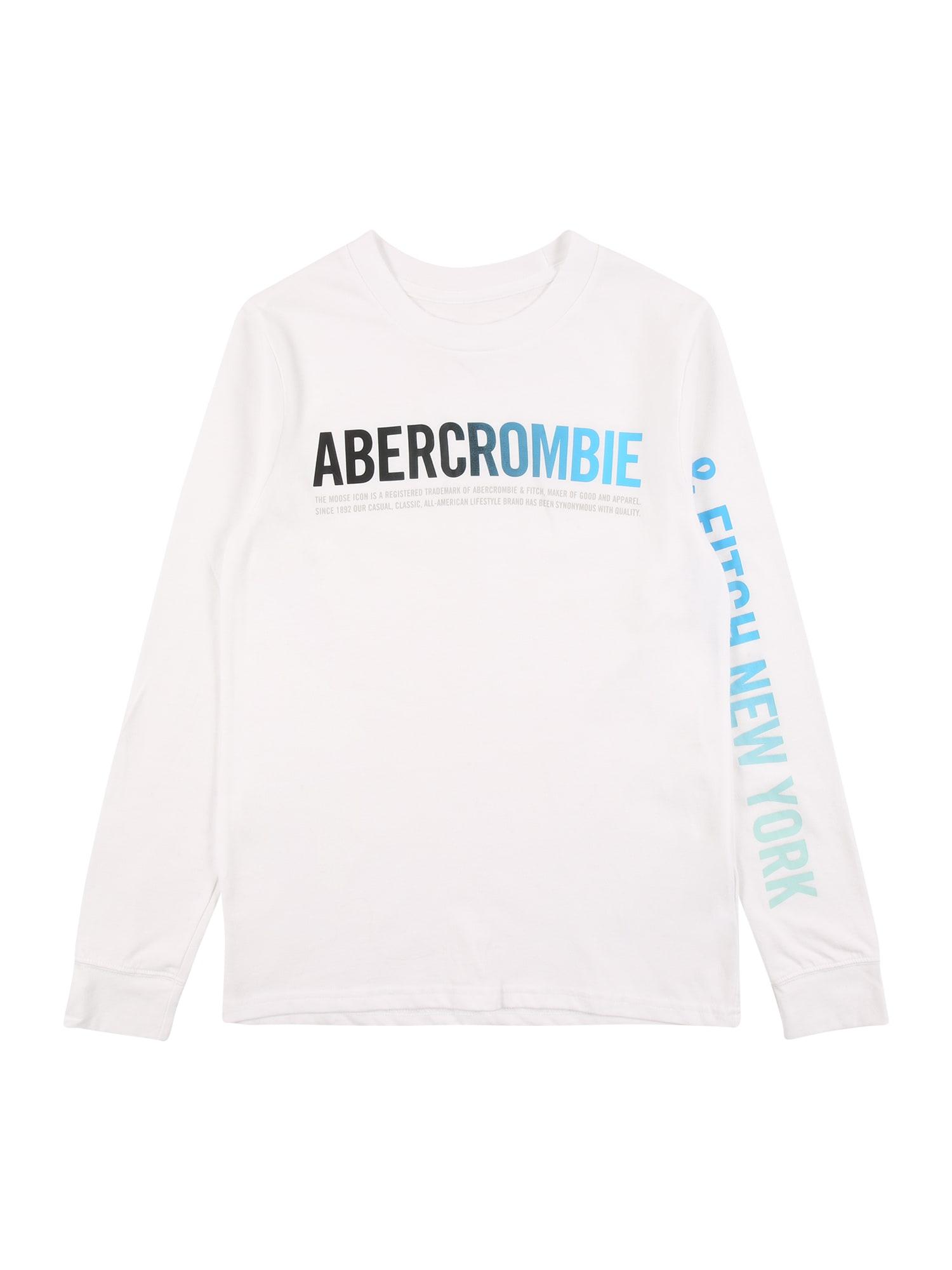 Abercrombie & Fitch Marškinėliai 'HIKE BEAST' balkšva / pastelinė žalia / mėlyna / juoda / pilka