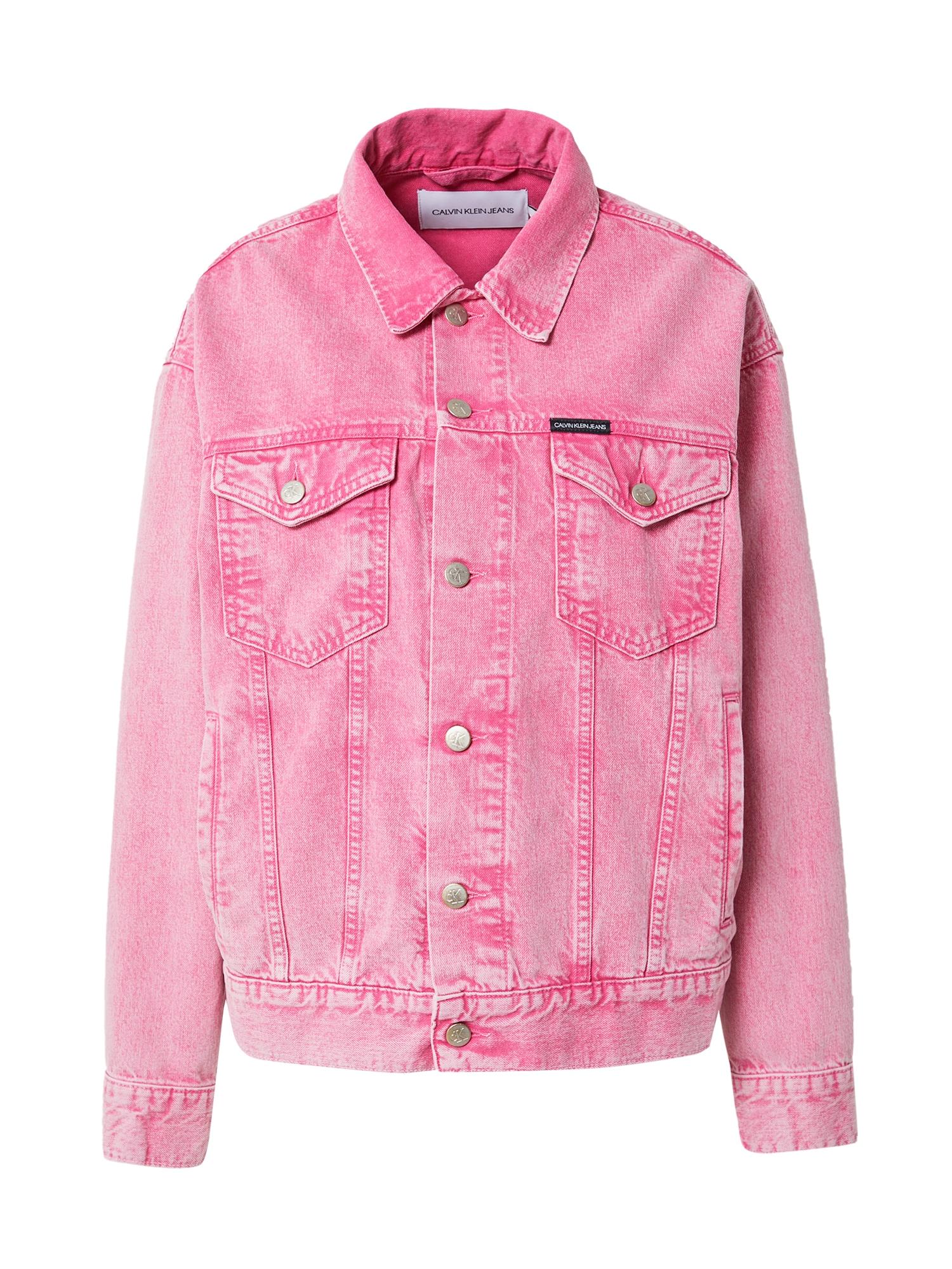 Calvin Klein Jeans Demisezoninė striukė rožinė